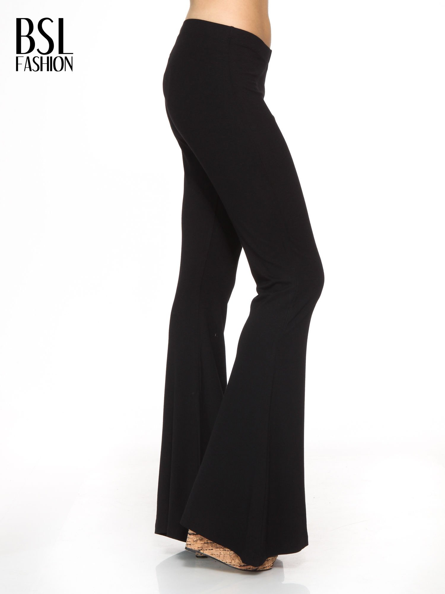 Czarne spodnie typu dzwony                                  zdj.                                  3