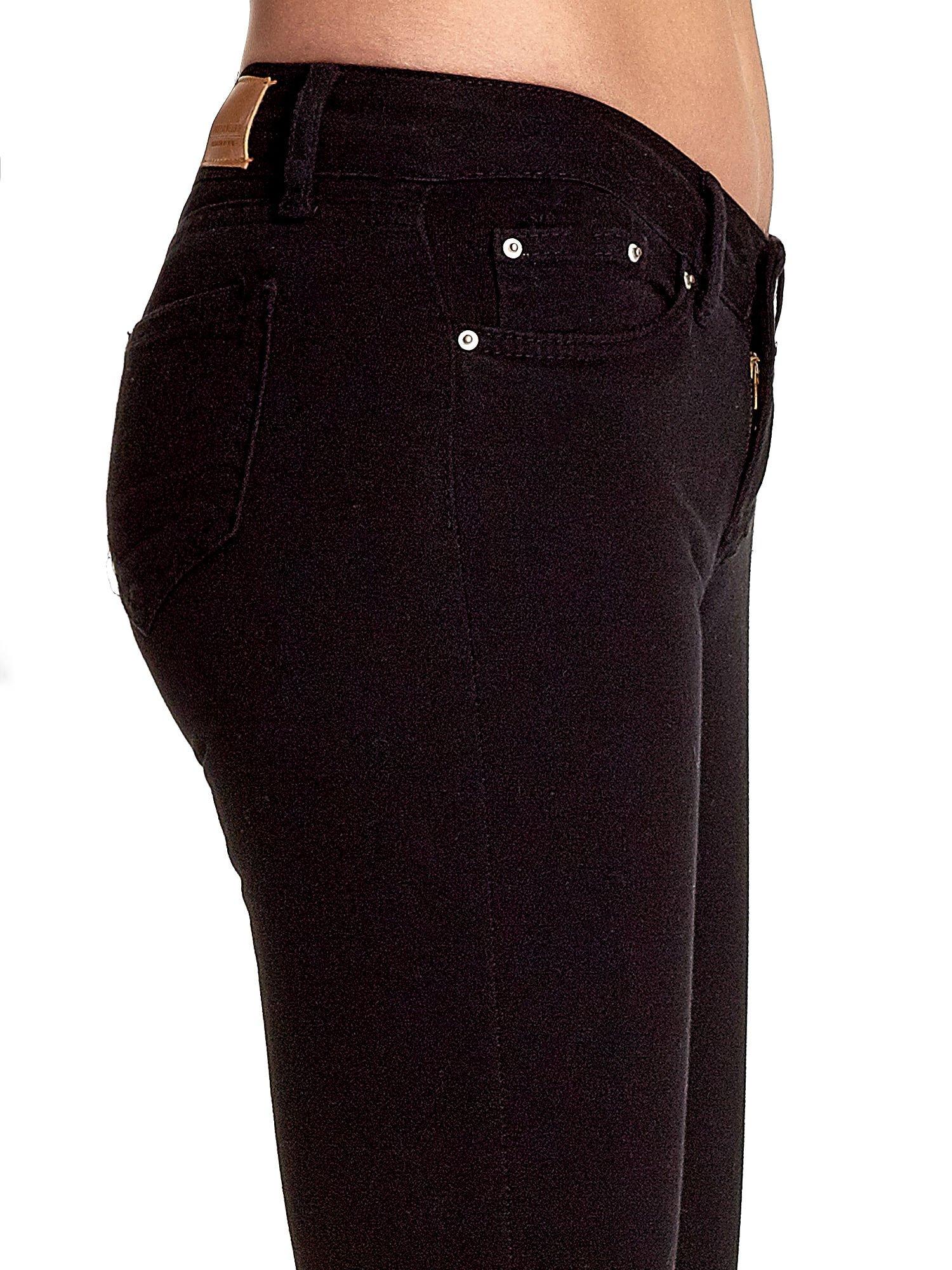 Czarne spodnie typu skinny z elastycznego materiału                                  zdj.                                  6