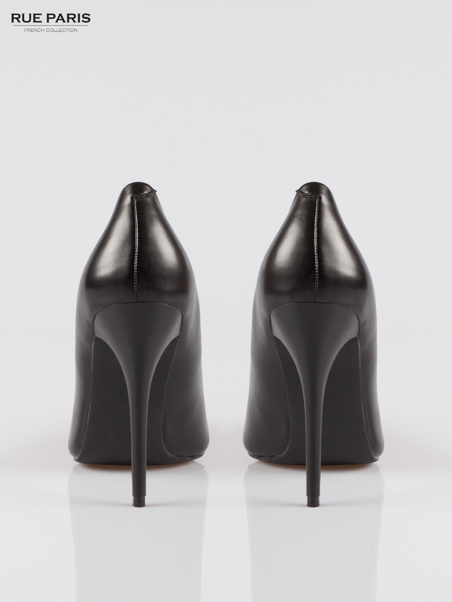 Czarne szpilki high heels z noskiem w szpic                                  zdj.                                  3