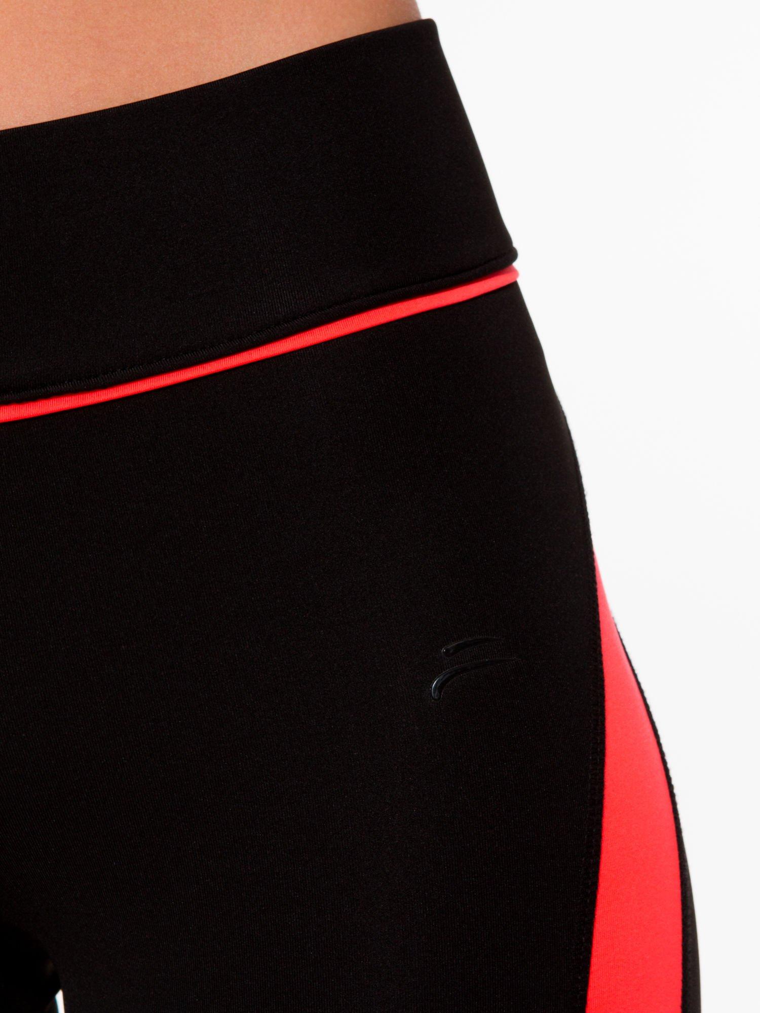 Czarne termoaktywne legginsy do biegania z fluoróżowymi lampasami ♦ Performance RUN                                  zdj.                                  6