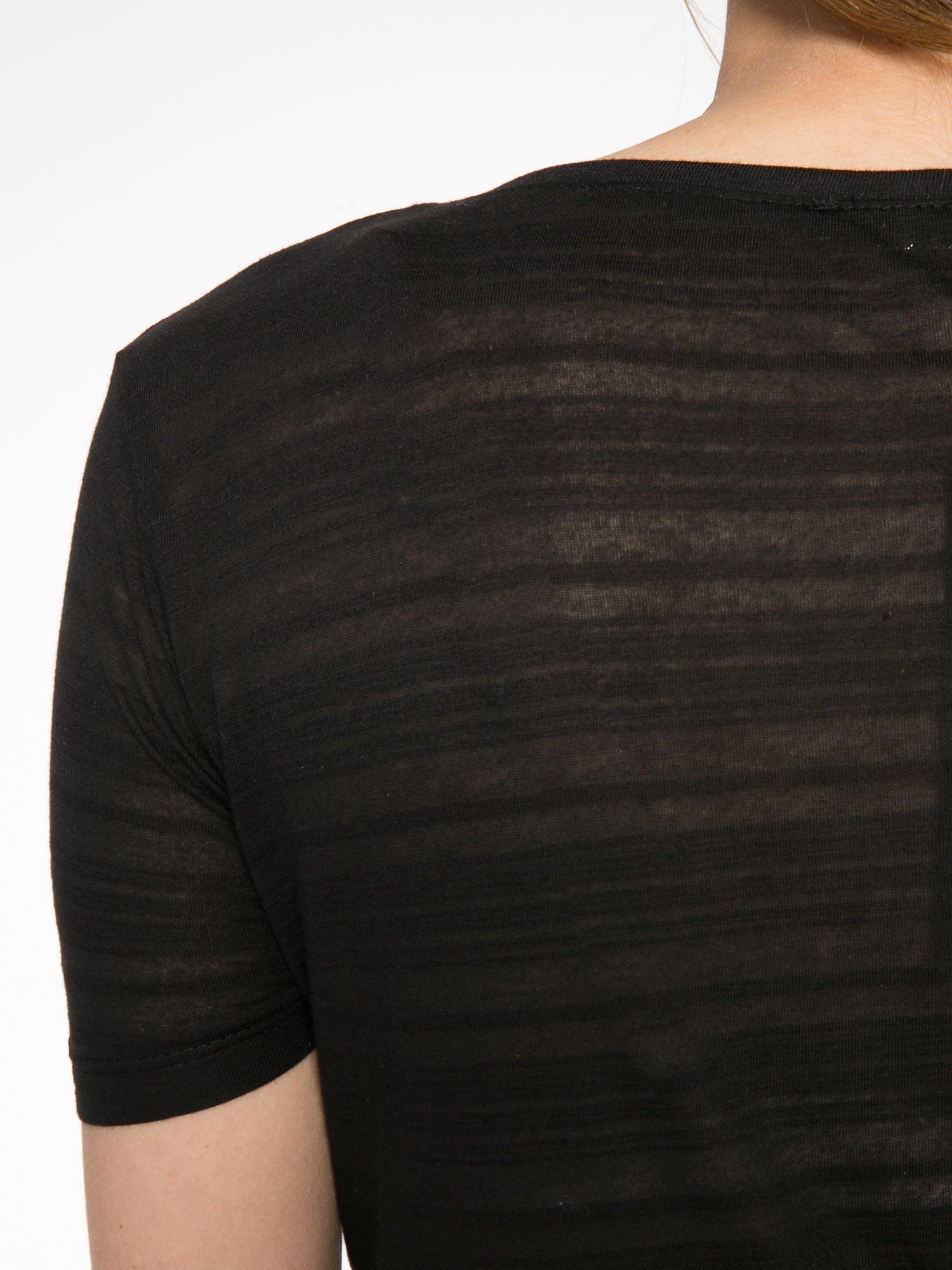 Czarny krótki t-shirt z napisem PARTY PERFECT FOREVER                                  zdj.                                  9