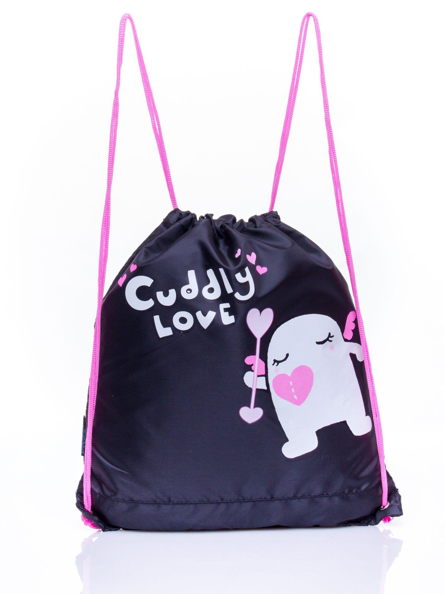 Czarny plecak worek DISNEY Doodolls                                  zdj.                                  1