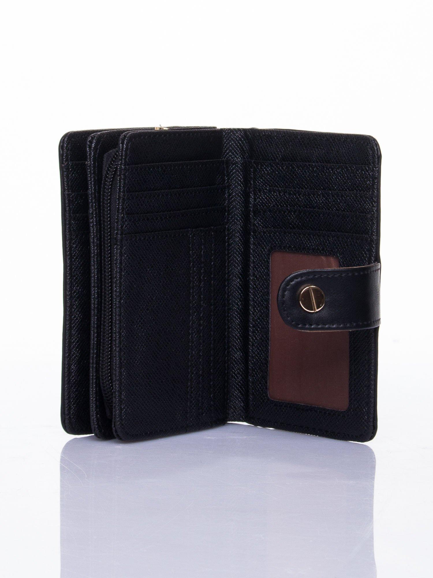 Czarny portfel z zatrzaskiem                                  zdj.                                  4