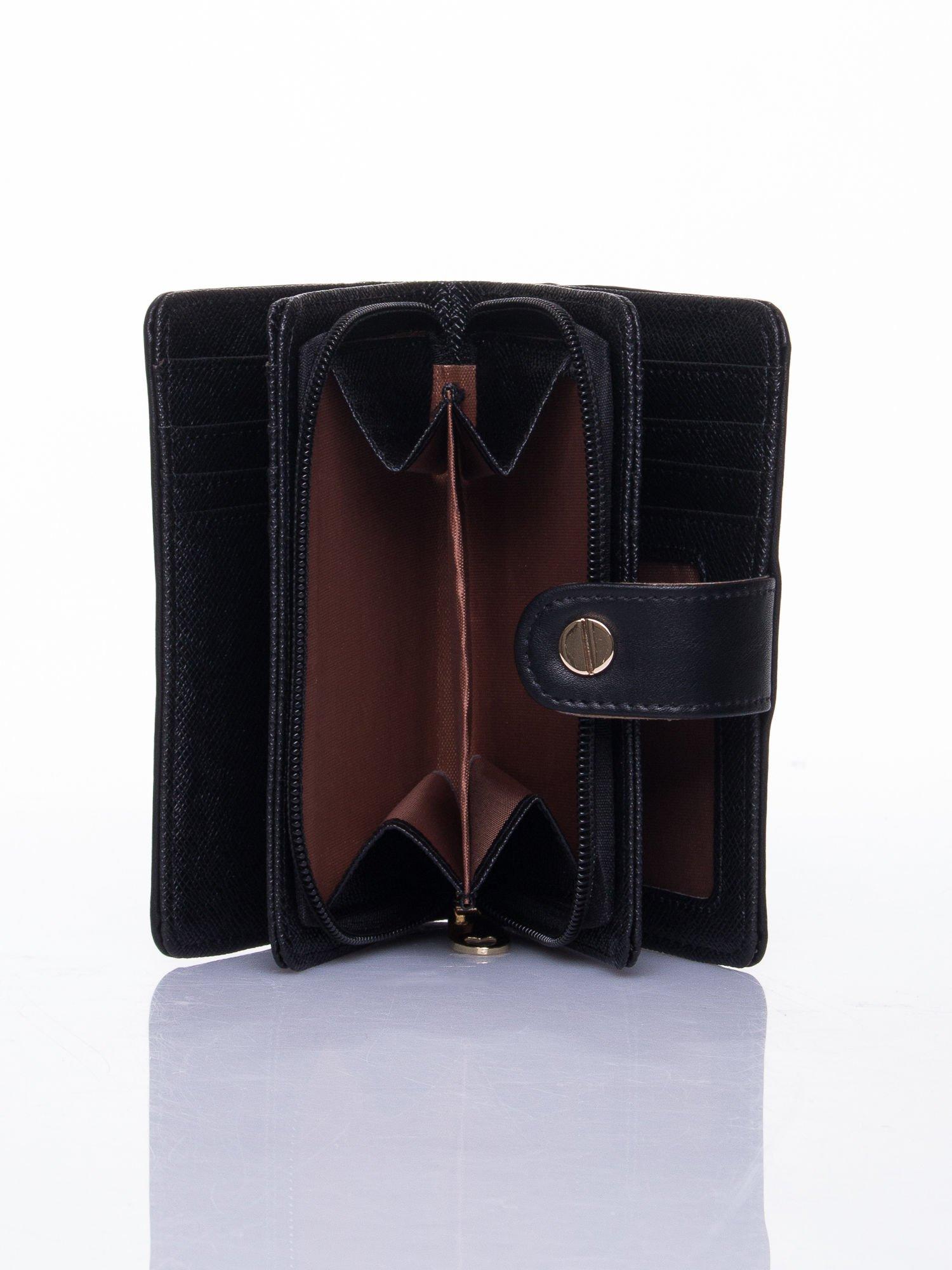 Czarny portfel z zatrzaskiem                                  zdj.                                  6