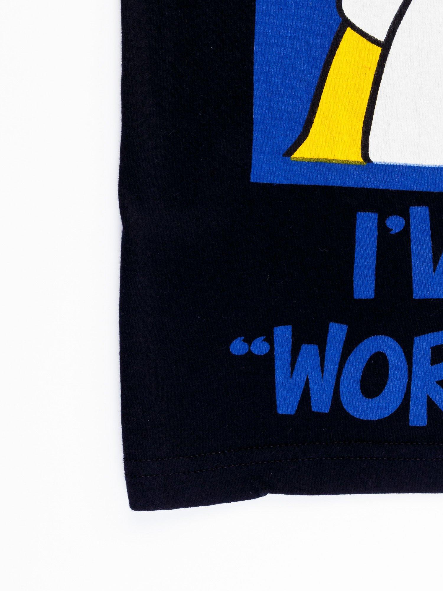 Czarny t-shirt męski GARFIELD                                  zdj.                                  11