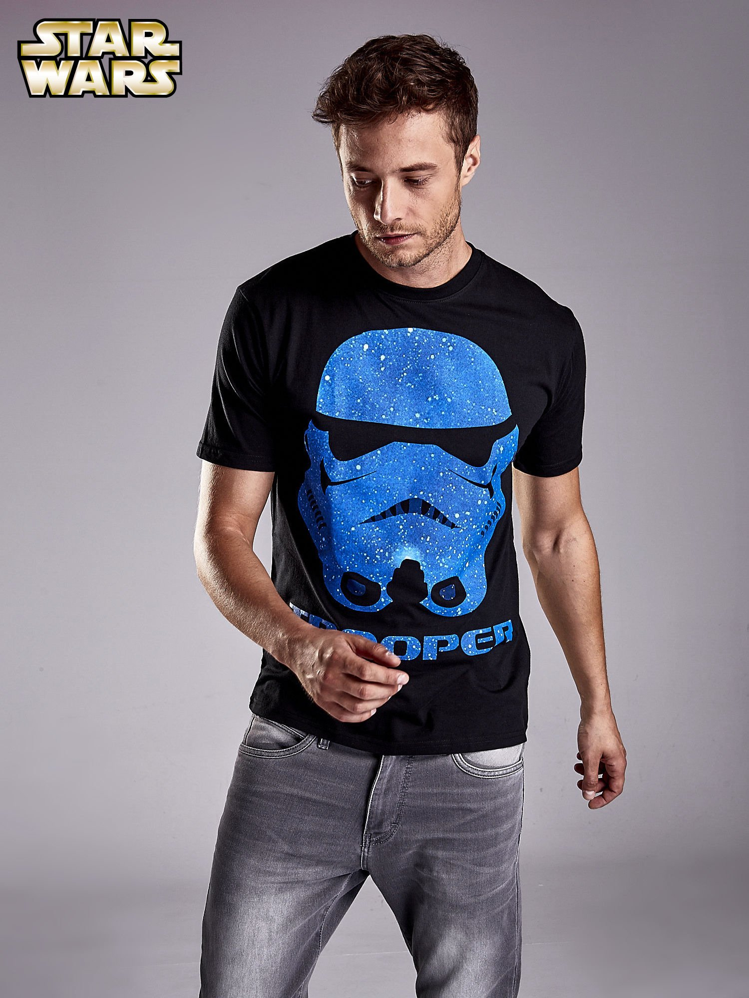 Czarny t-shirt męski STAR WARS                                  zdj.                                  1