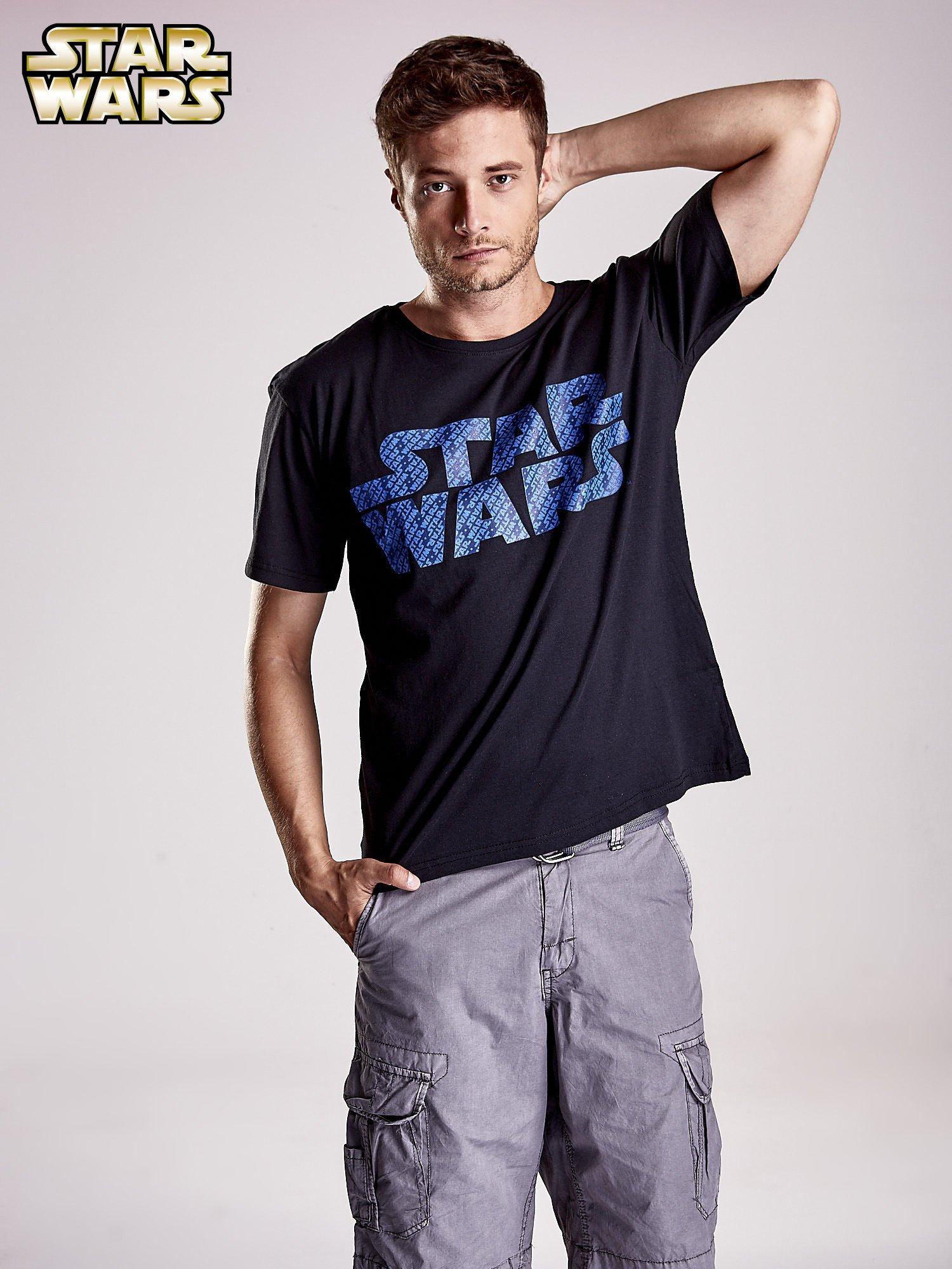 Czarny t-shirt męski z nadrukiem STAR WARS                                  zdj.                                  2
