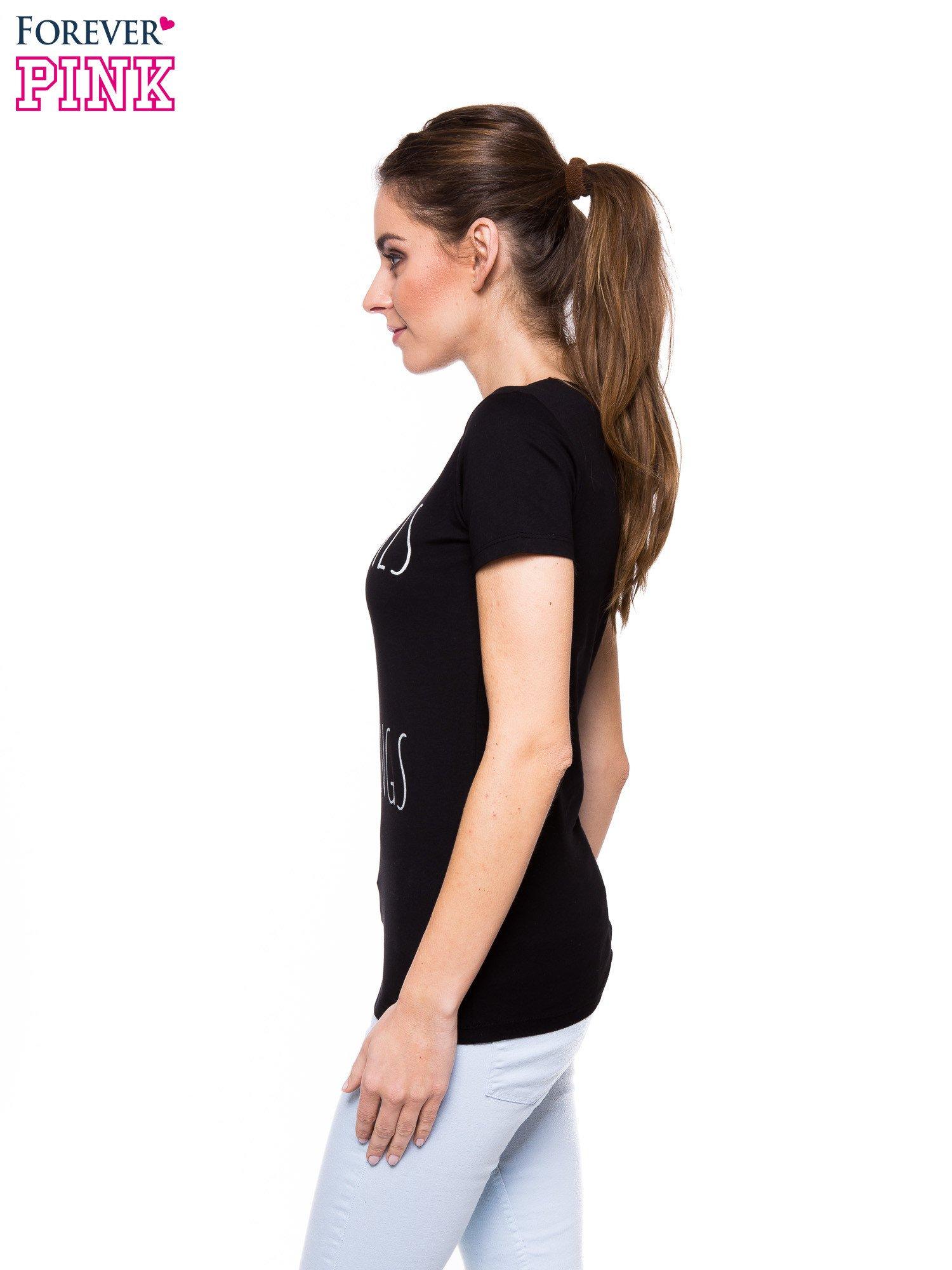 Czarny t-shirt z nadrukiem GOOD GIRLS DO BAD THINGS                                  zdj.                                  2