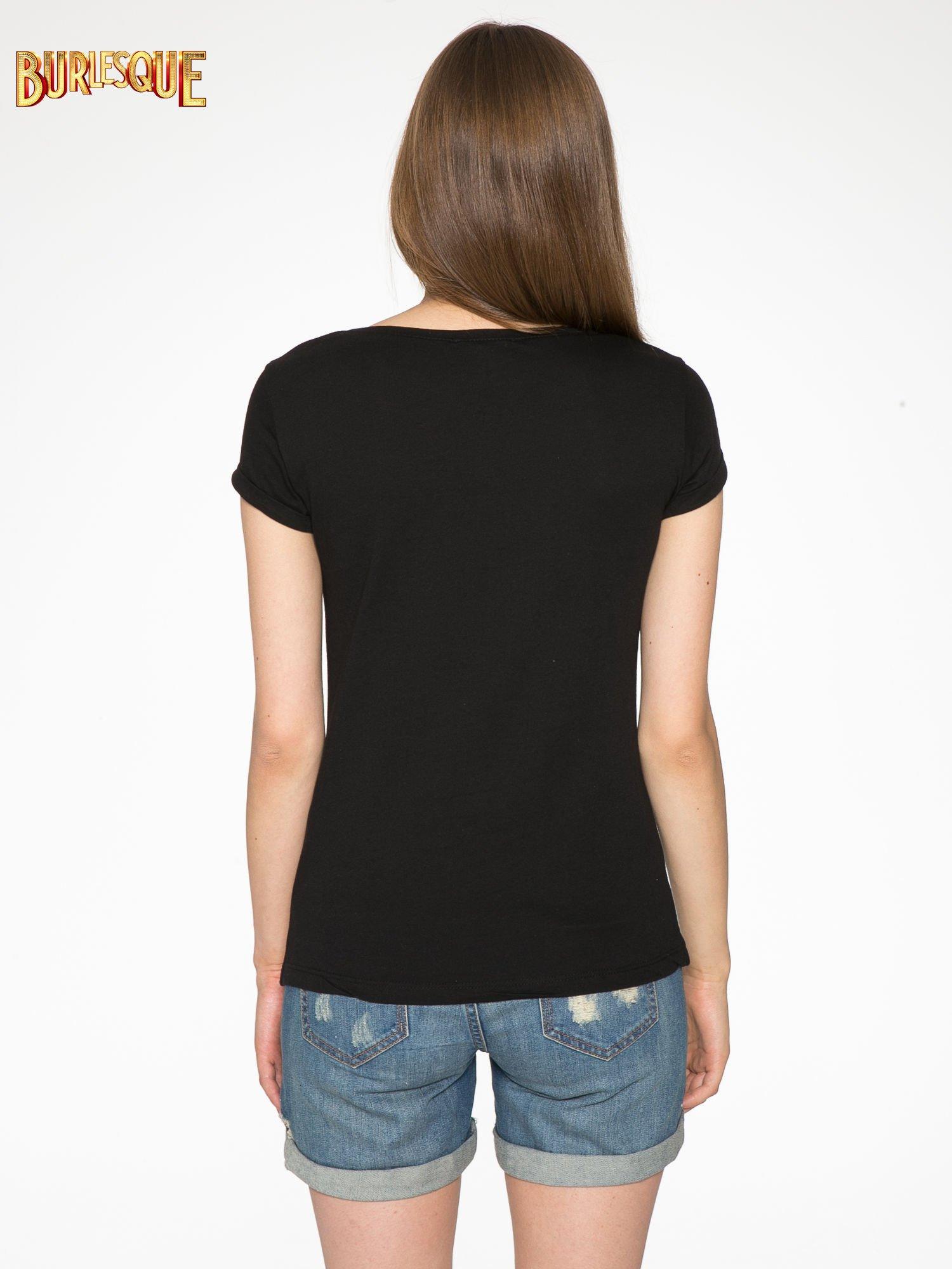 Czarny t-shirt z nadrukiem szczeniąt                                  zdj.                                  4