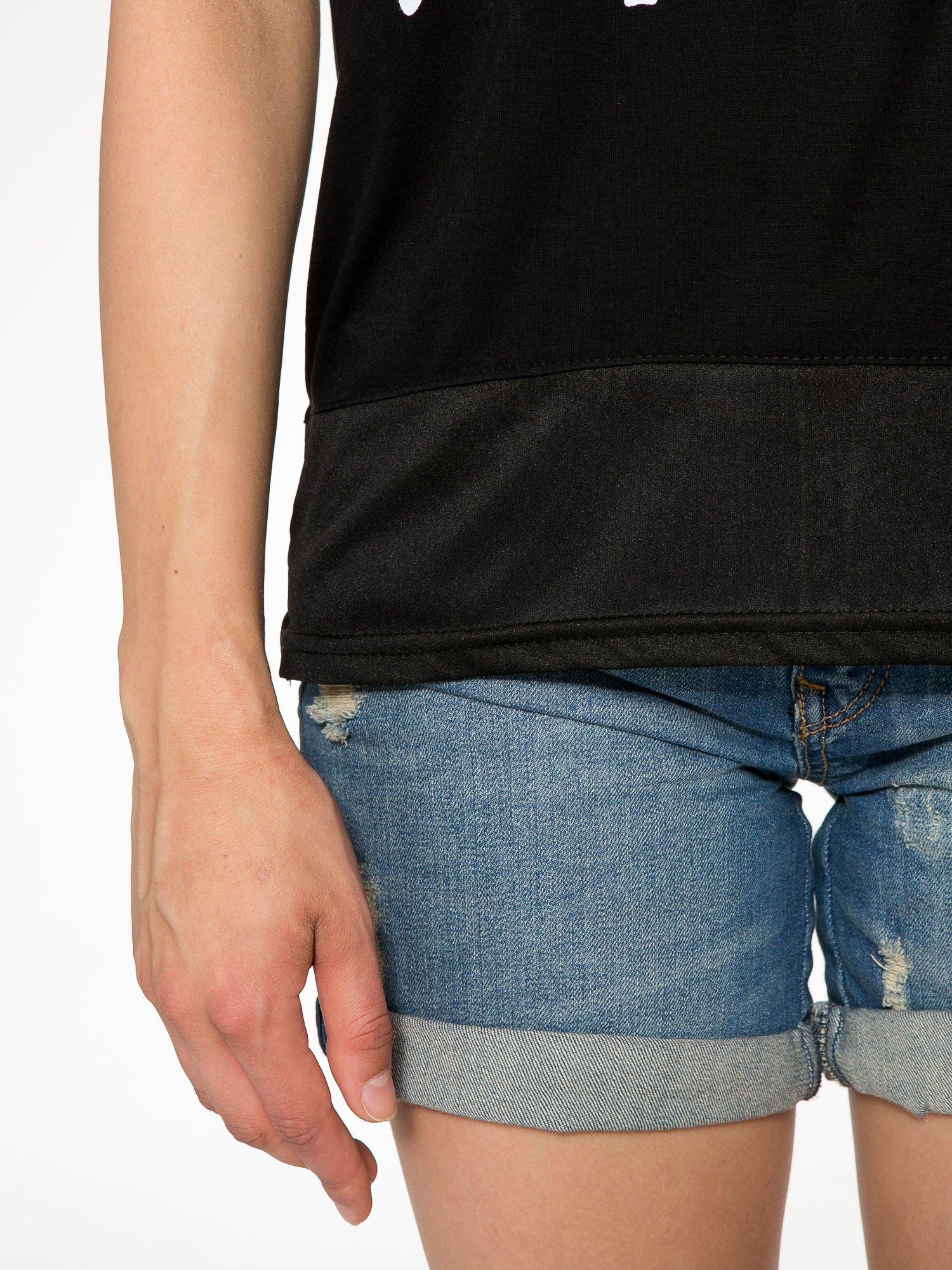 Czarny t-shirt z napisem DON'T WAIT                                  zdj.                                  6