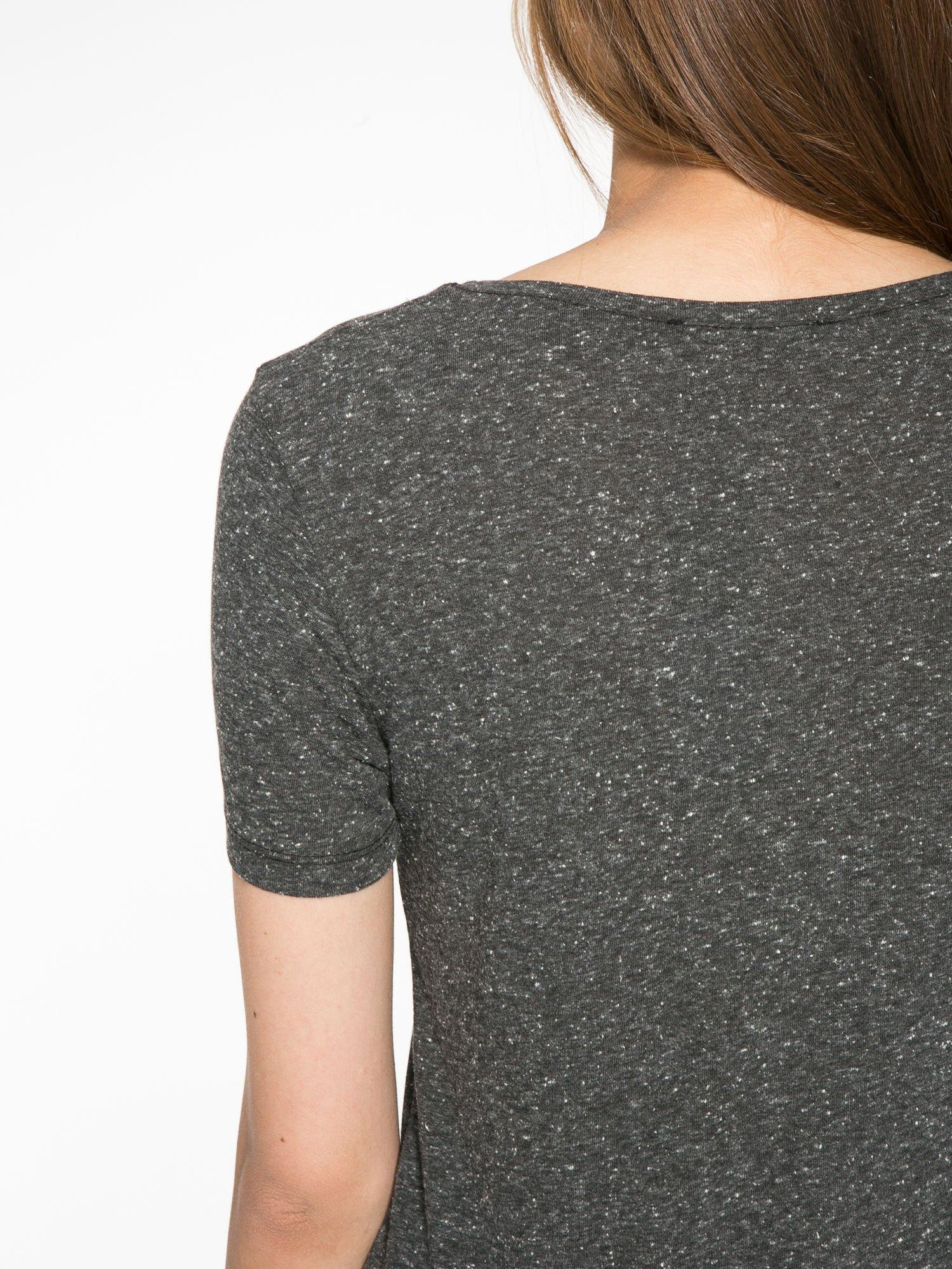Czarny t-shirt z napisem ROUTE NEW YORK                                  zdj.                                  9
