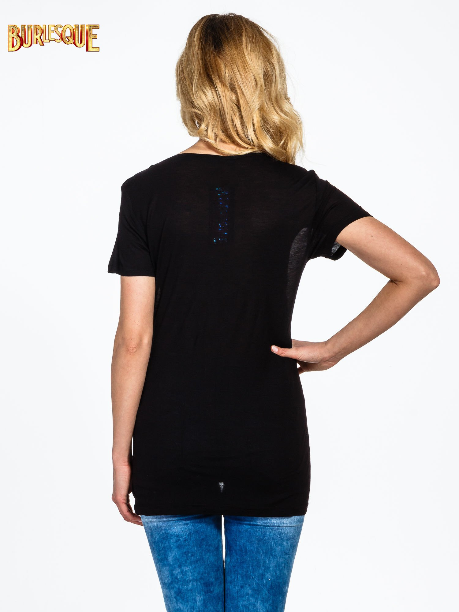 Czarny t-shirt z napisem YOU THINK BIG YOU GET BIG                                  zdj.                                  4