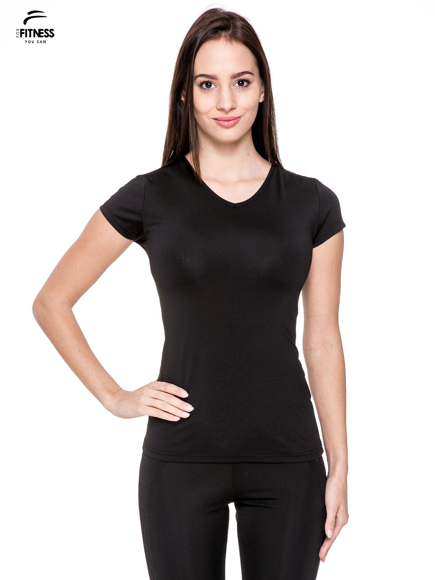 Czarny termoaktywny t-shirt sportowy typu basic ♦ Performance RUN                                  zdj.                                  1