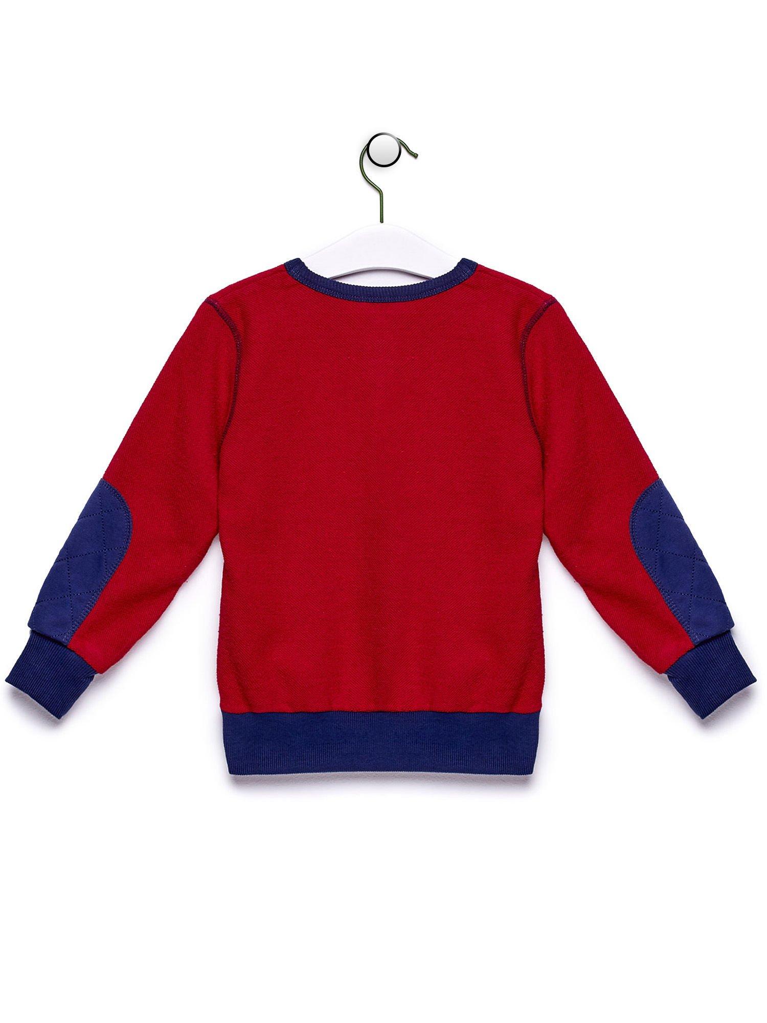 Czerwona bluza chłopięca z baseballowym nadrukiem