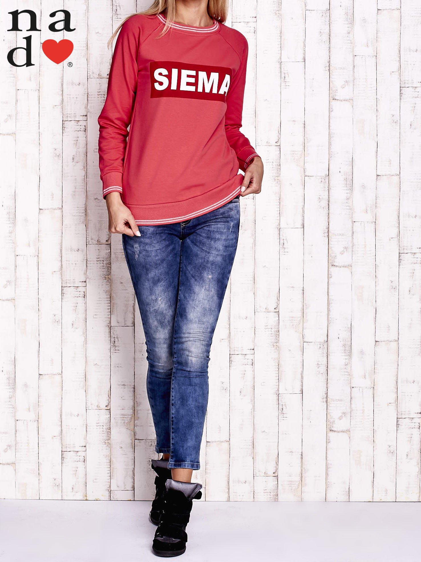 Czerwona bluza z napisem SIEMA                                  zdj.                                  2