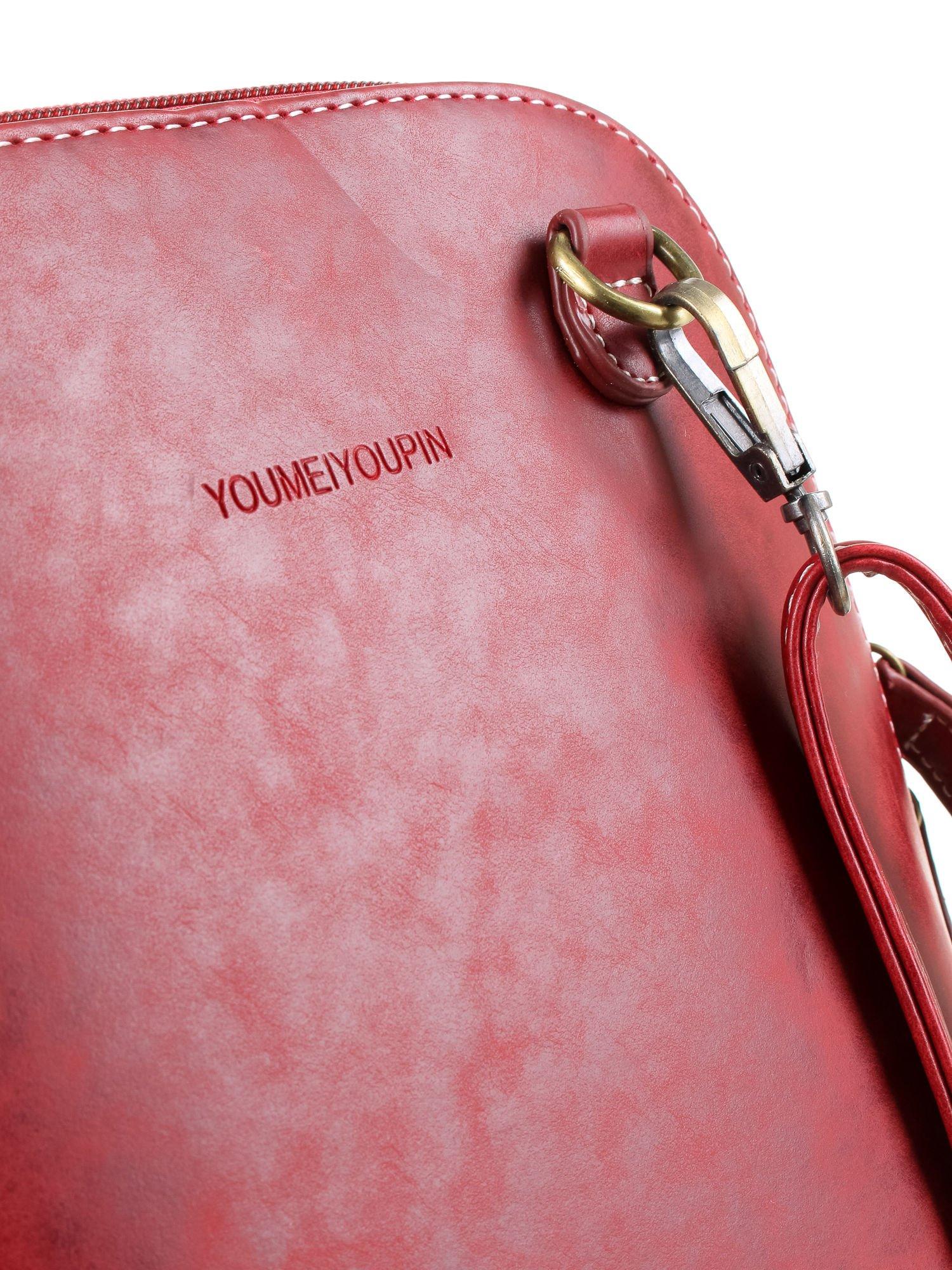 Czerwona elegancka listonoszka z odpinanaym paskiem                                  zdj.                                  7