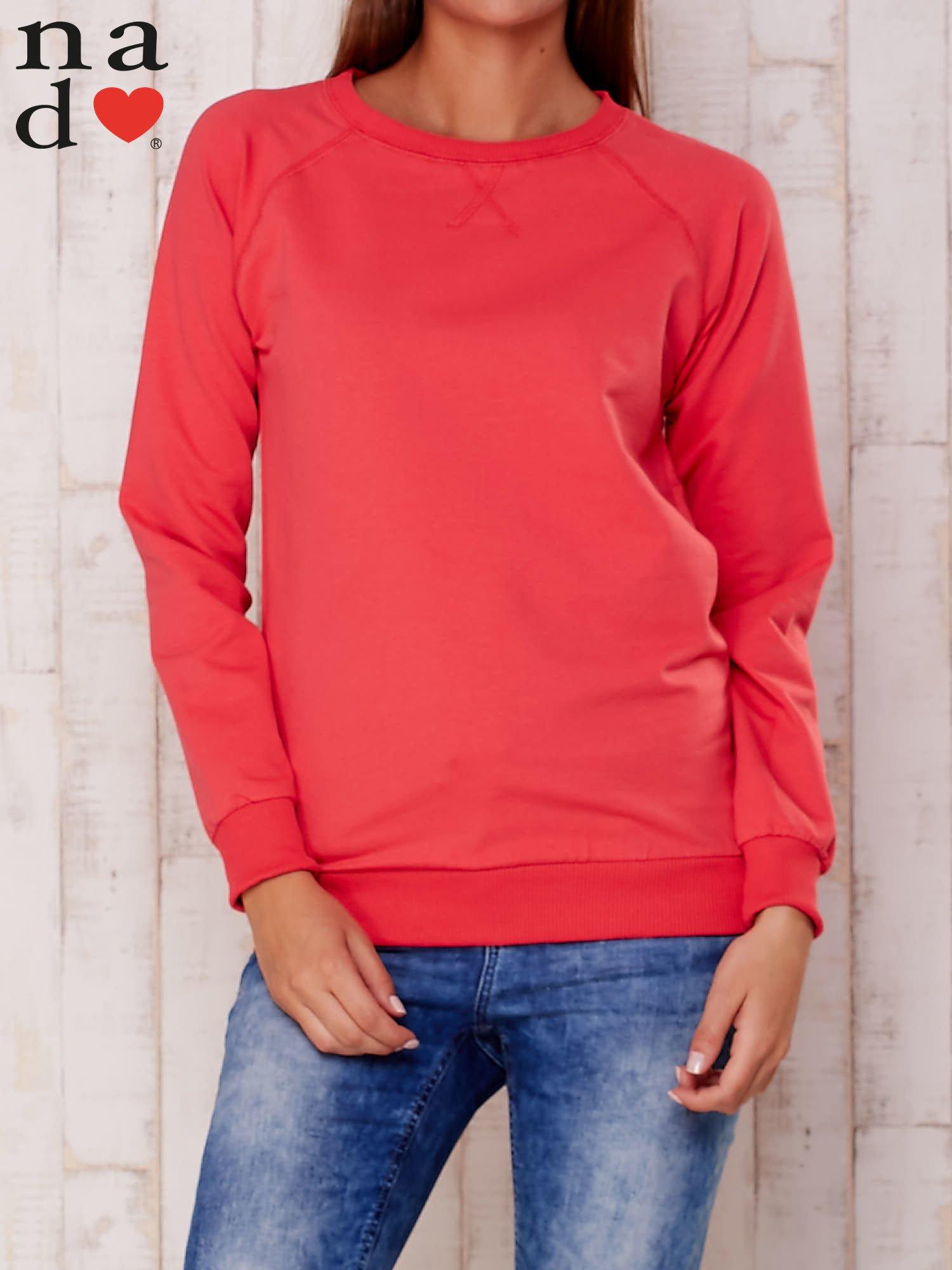 Czerwona gładka bluza                                  zdj.                                  1