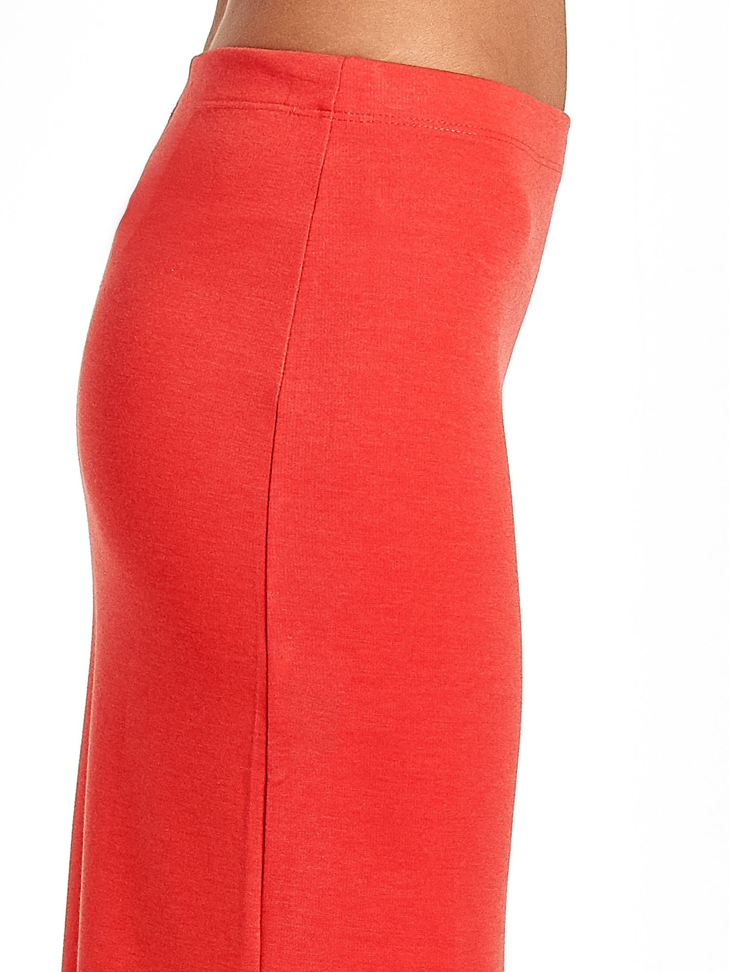 Czerwona maxi spódnica z rozcięciem z boku                                  zdj.                                  6