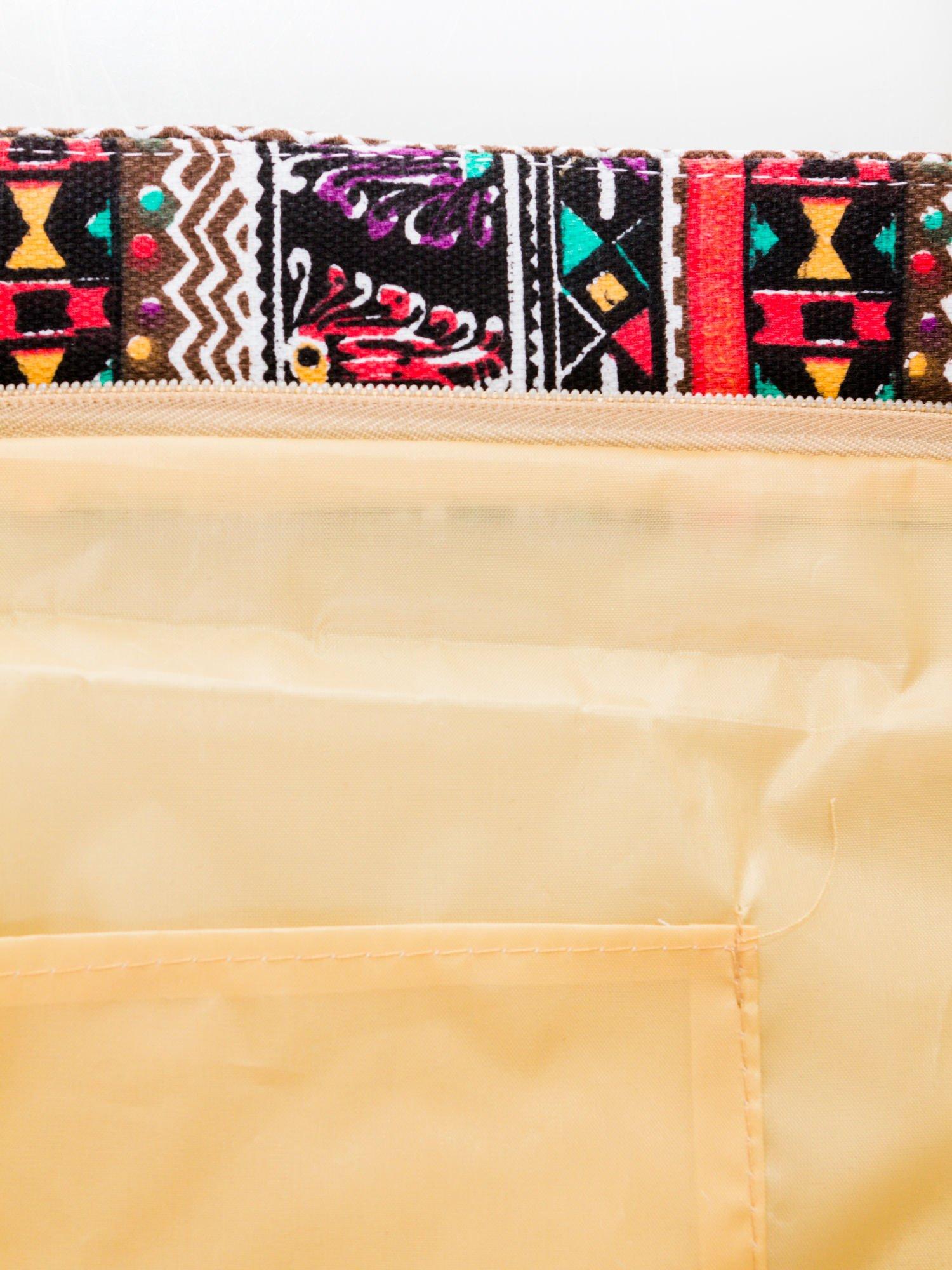 Czerwona torba plażowa w azteckie wzory                                  zdj.                                  7