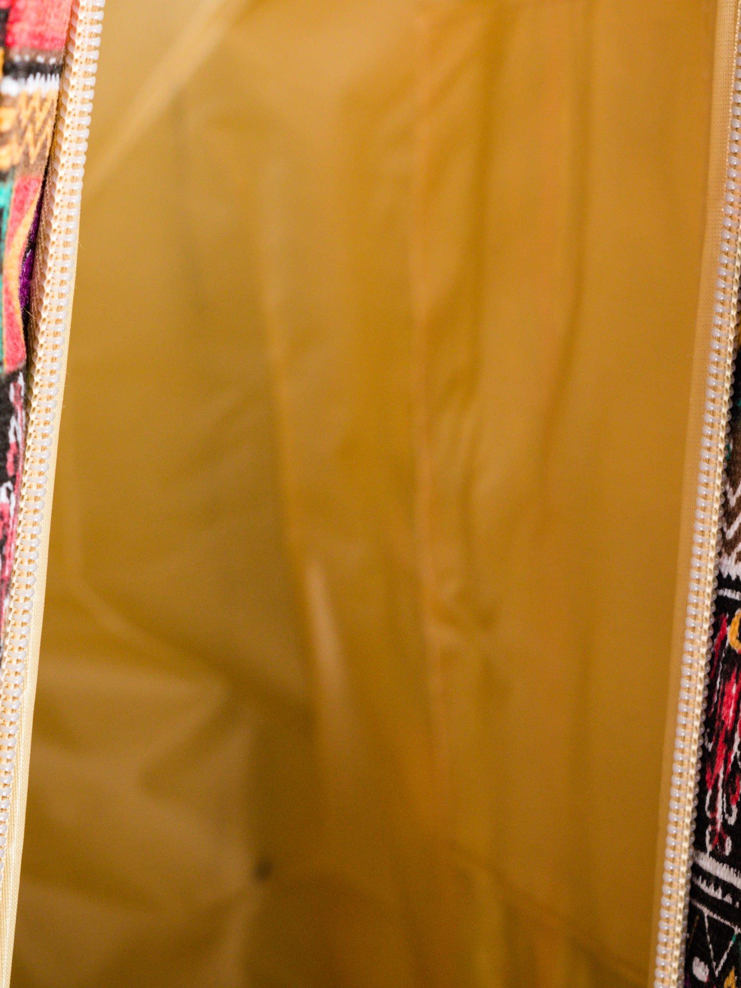 Czerwona torba plażowa w azteckie wzory                                  zdj.                                  8