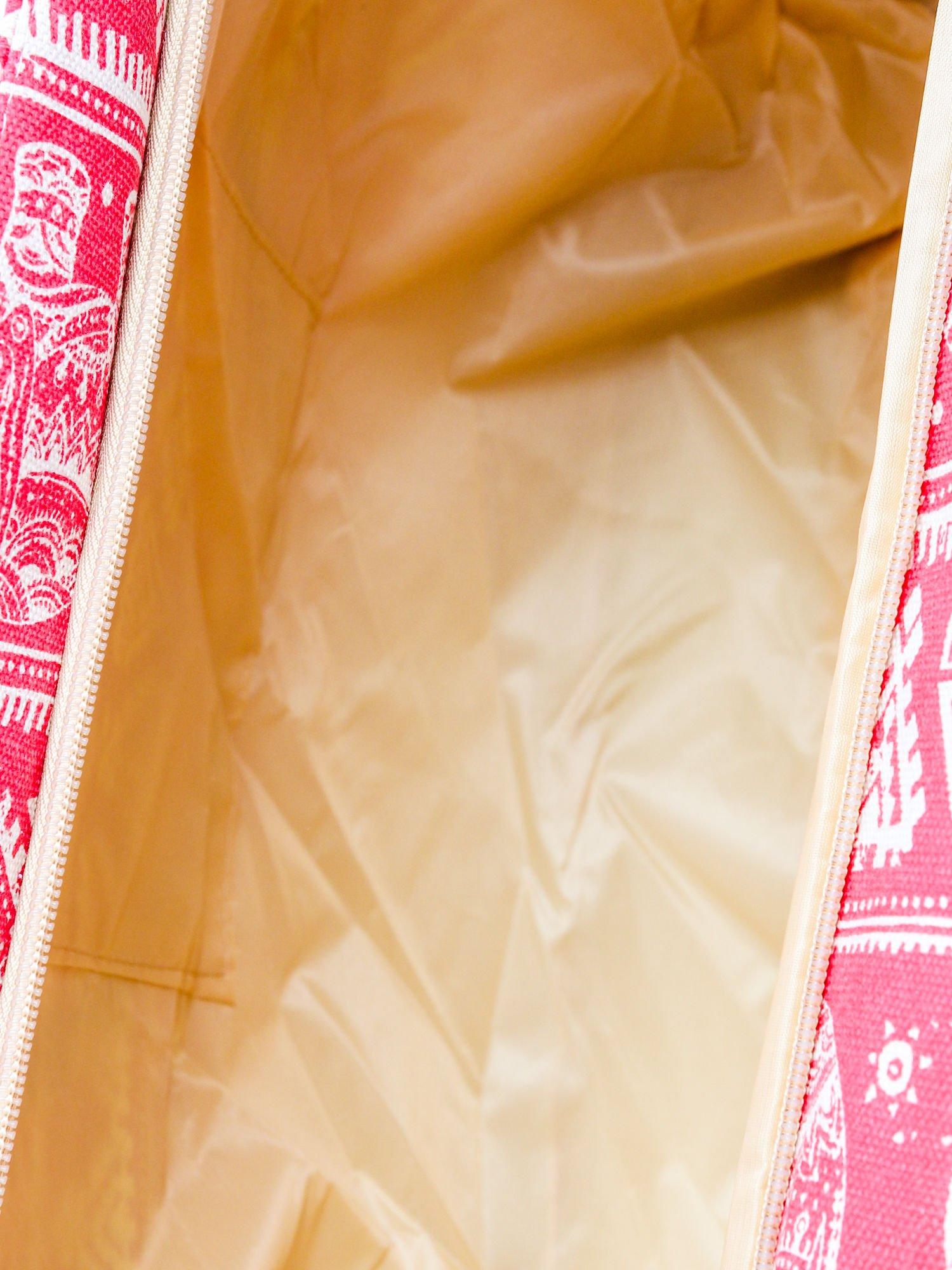 Czerwona torba plażowa w indyjskie wzory                                  zdj.                                  10