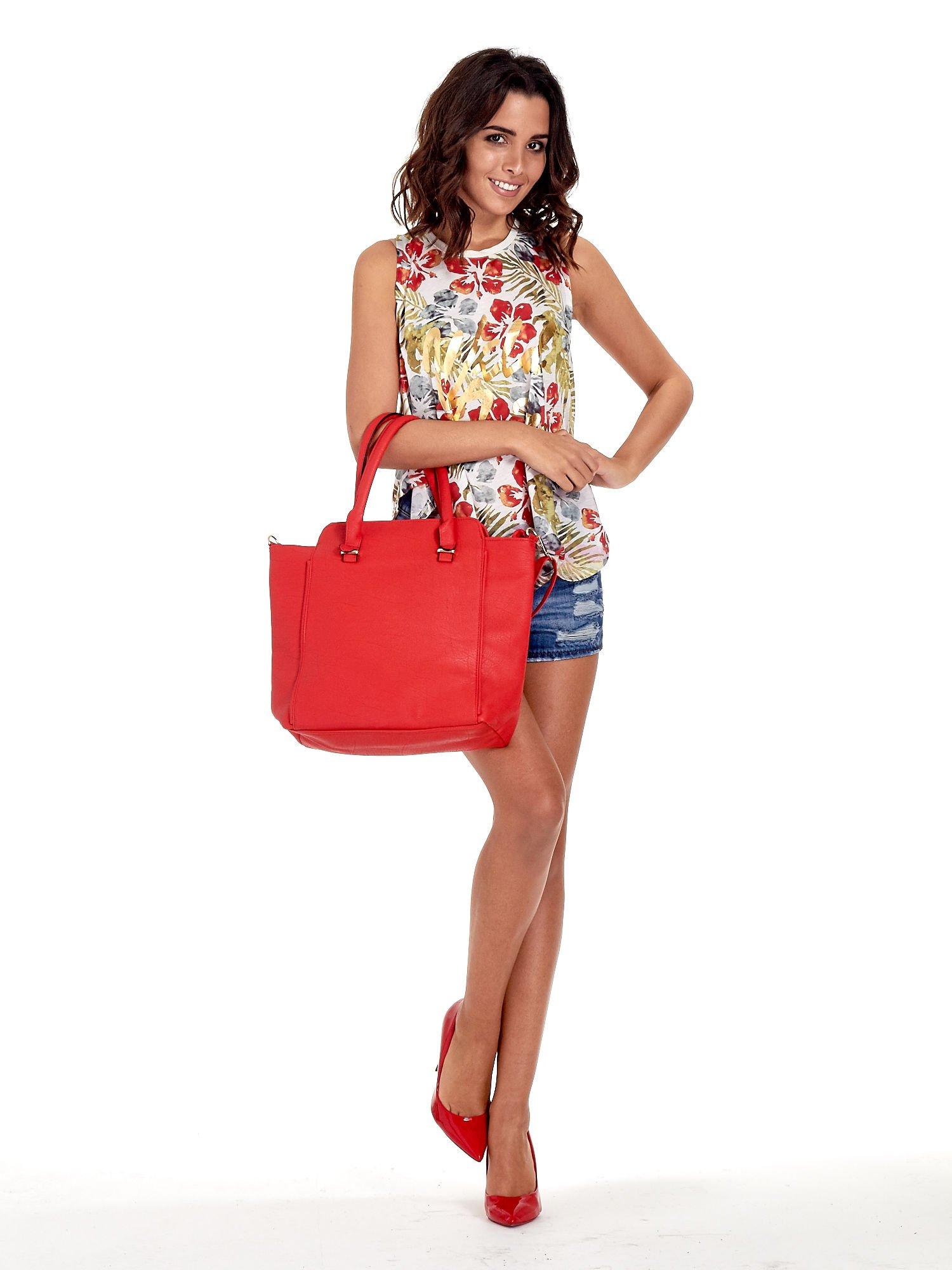 Czerwona torba shopper bag                                  zdj.                                  2