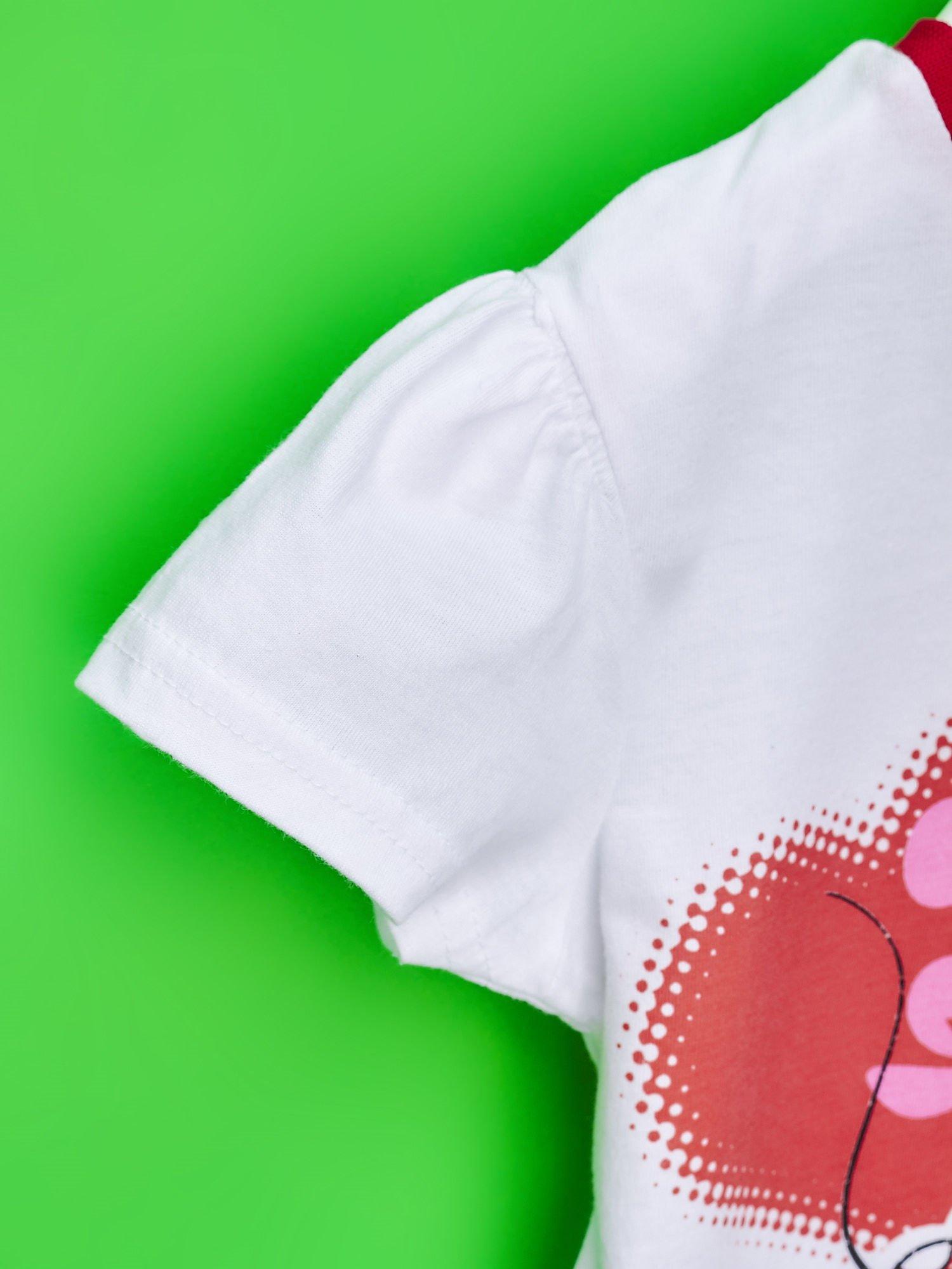 Czerwona tunika dla dziewczynki z motywem MINNIE MOUSE                                  zdj.                                  6