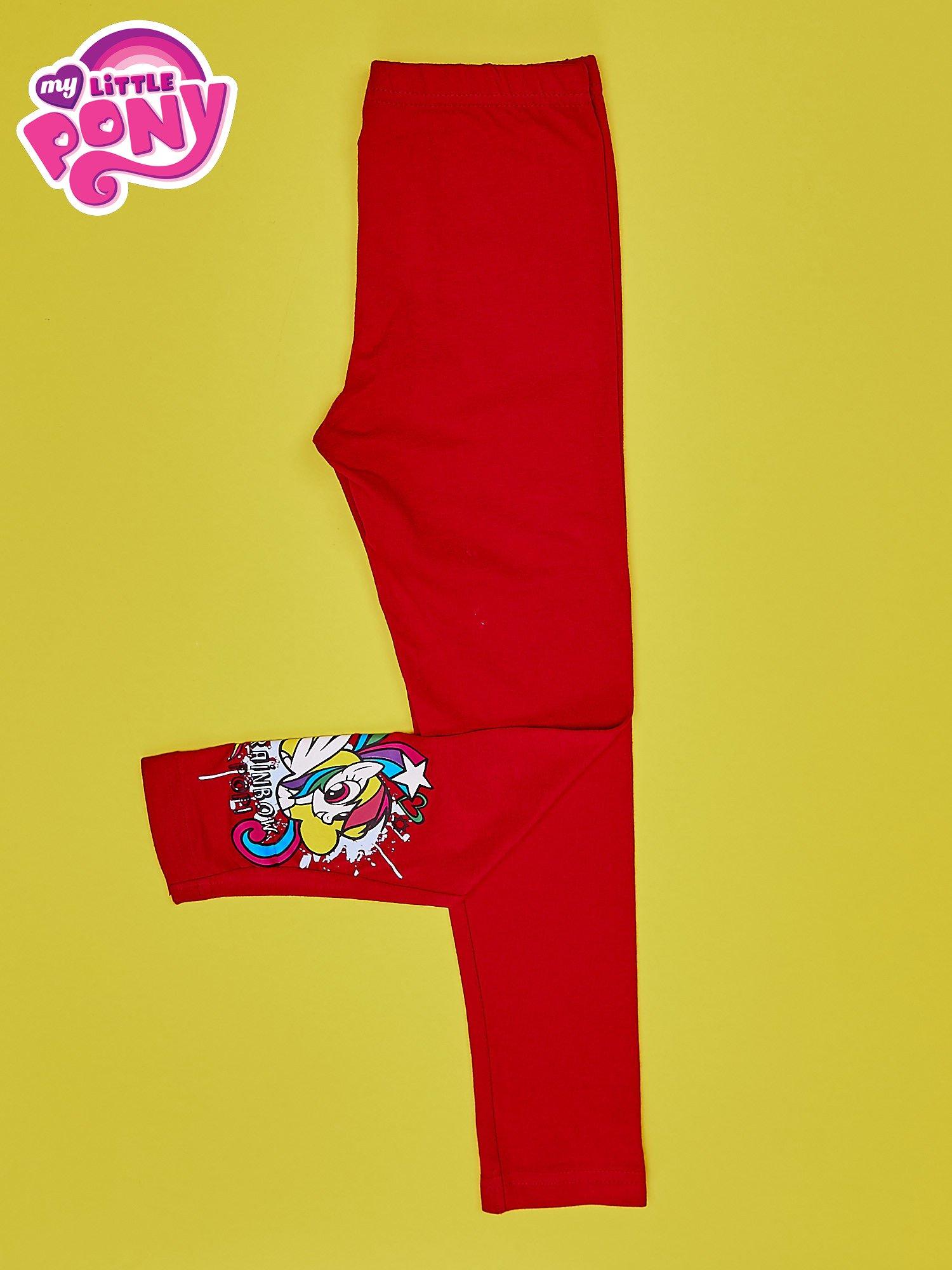 Czerwone legginsy dla dziewczynki z motywem MY LITTLE PONY                                  zdj.                                  3