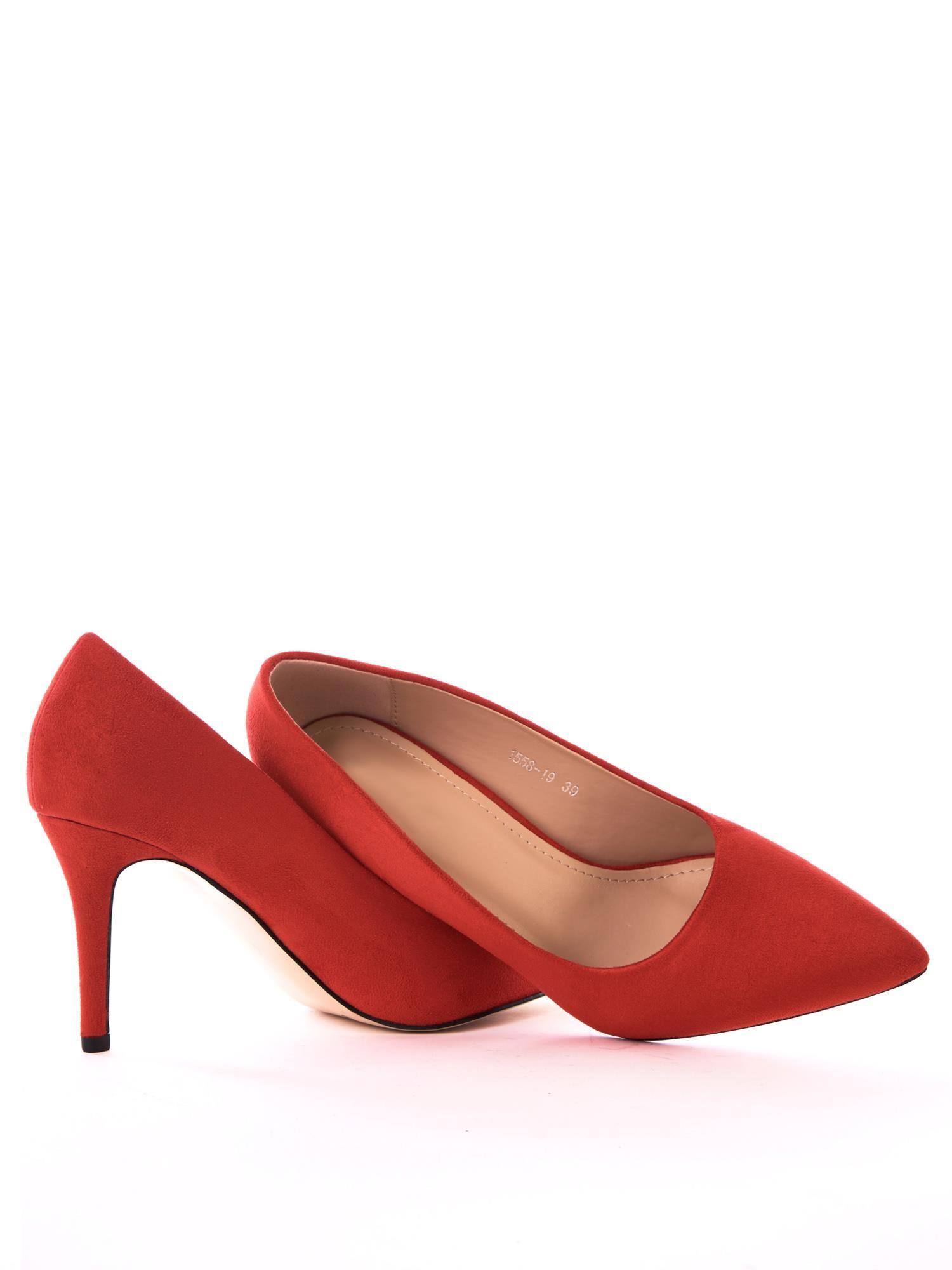 buty damskie szpilki ze skory czerwonr rozmiar 39