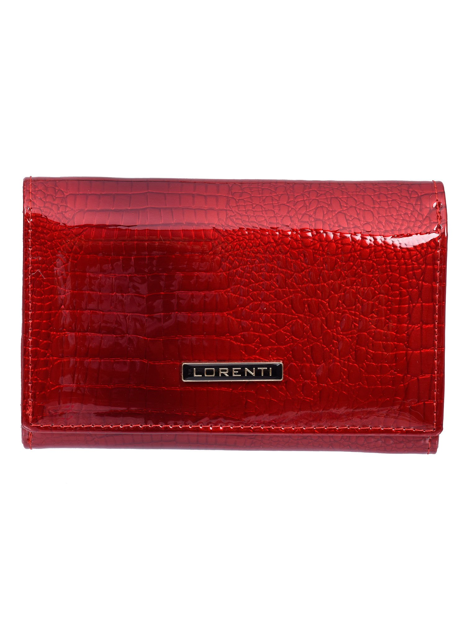 58c04104296da Czerwony damski portfel skórzany lakierowany - Akcesoria portfele ...