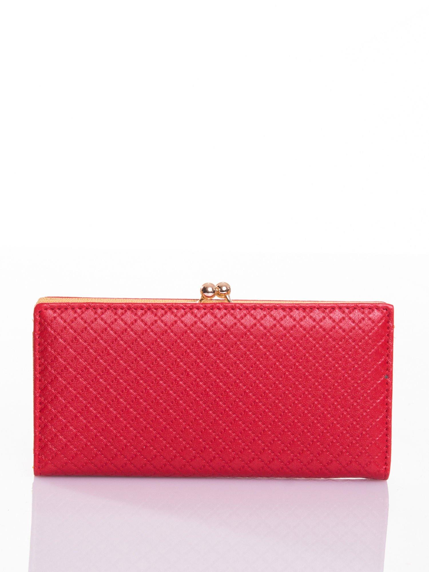 Czerwony elegancki portfel na bigiel                                  zdj.                                  1