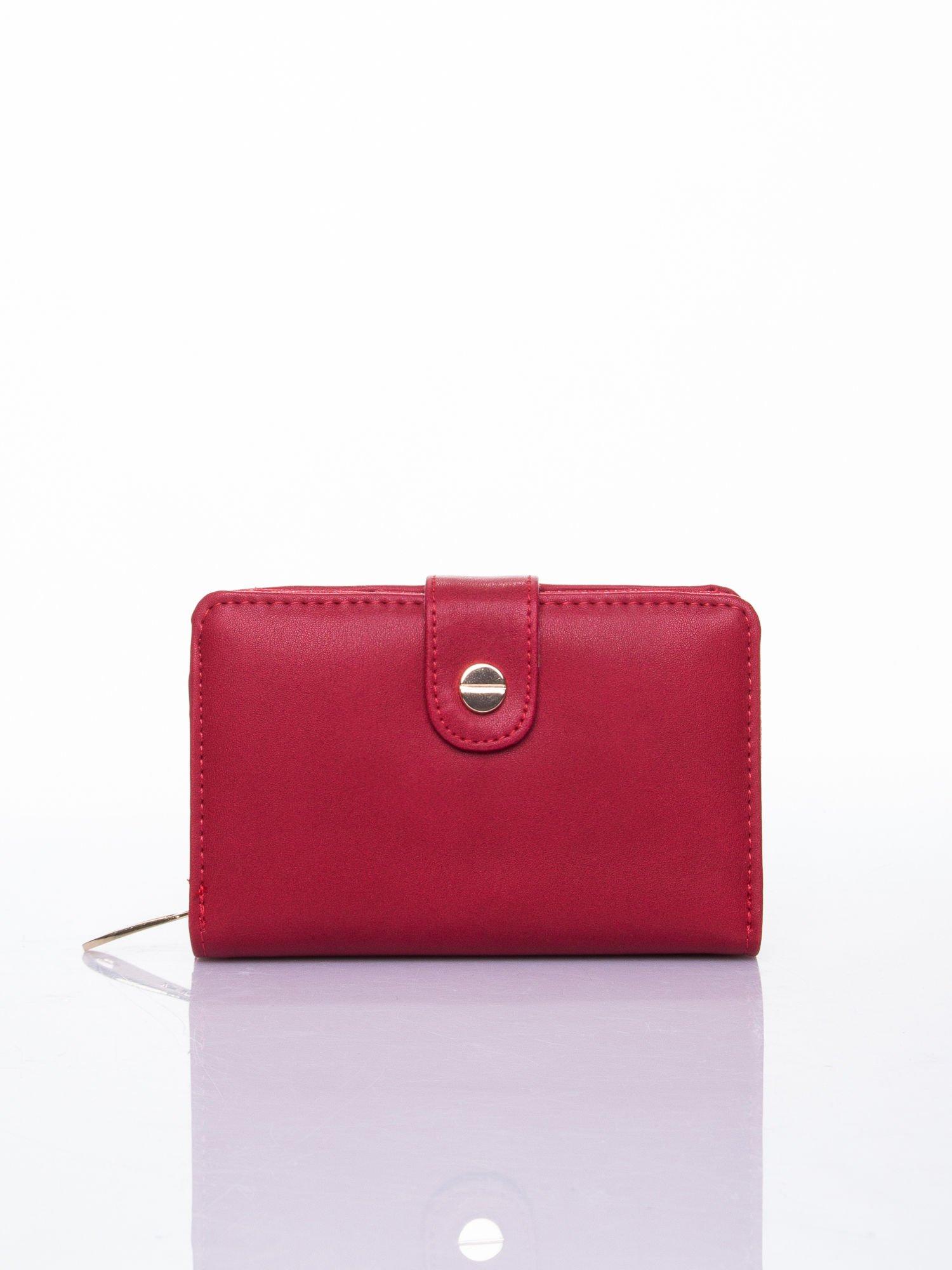 Czerwony portfel z zatrzaskiem                                  zdj.                                  1