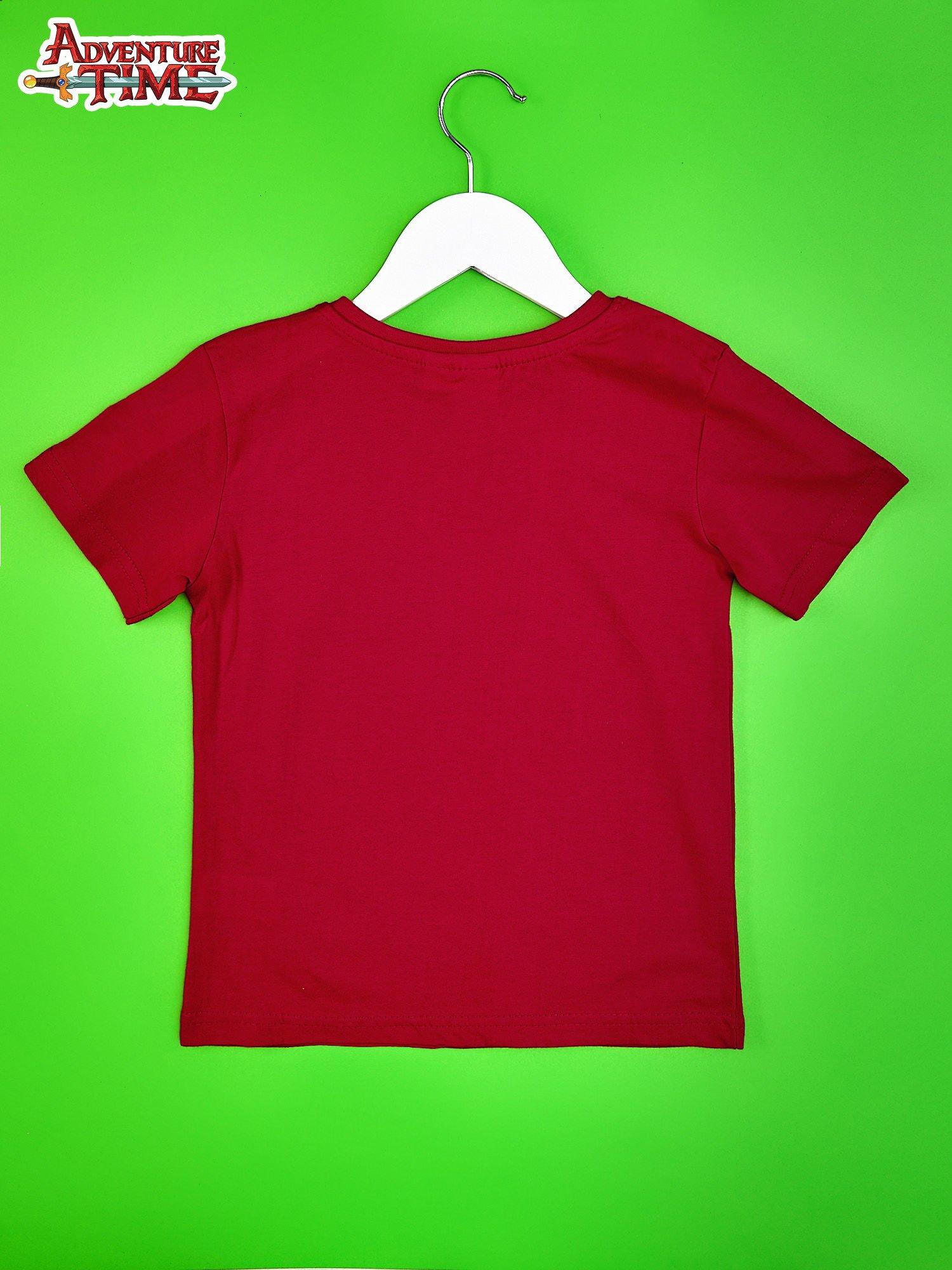 Czerwony t-shirt chłopięcy ADVENTURE TIME                                   zdj.                                  2