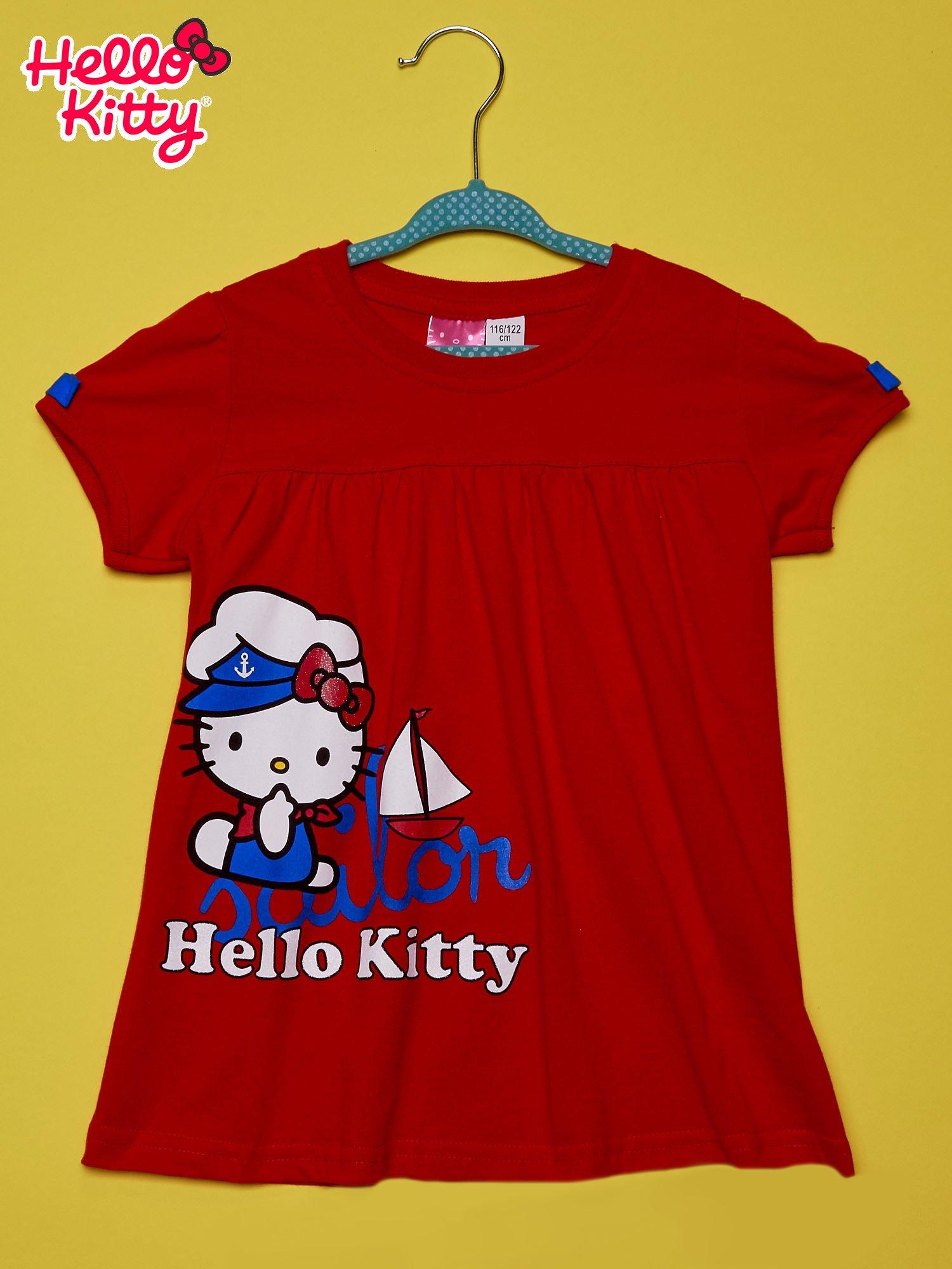 Czerwony t-shirt dla dziewczynki HELLO KITTY                                  zdj.                                  1