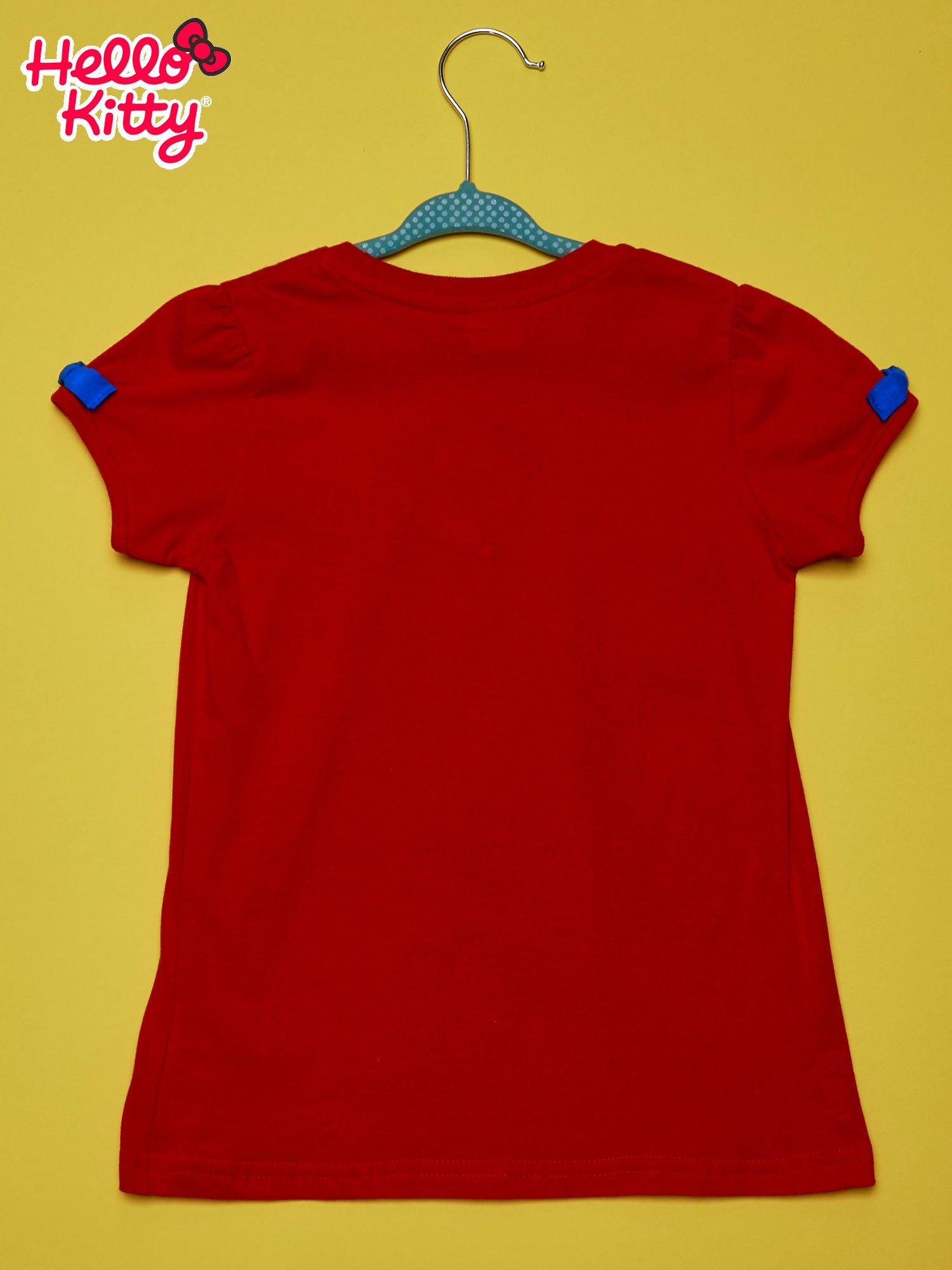Czerwony t-shirt dla dziewczynki HELLO KITTY                                  zdj.                                  2