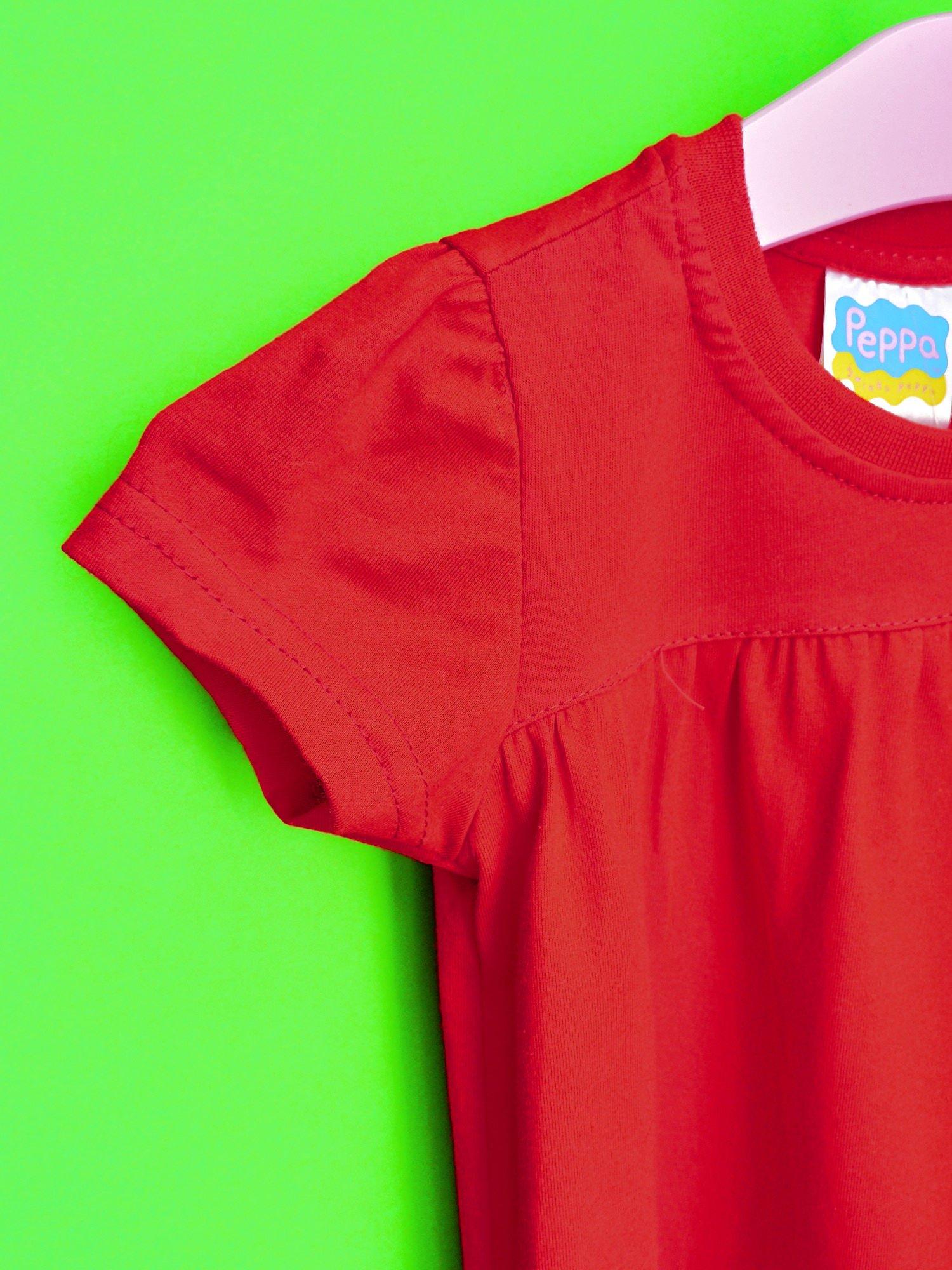 Czerwony t-shirt dla dziewczynki ŚWINKA PEPPA                                  zdj.                                  6