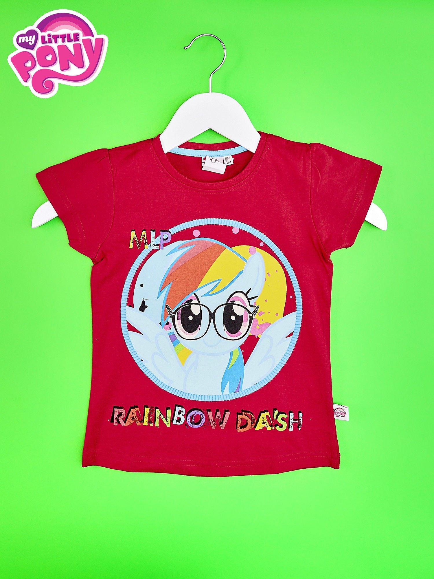 Czerwony t-shirt dla dziewczynki  motywem bajki MY LITTLE PONY                                   zdj.                                  1