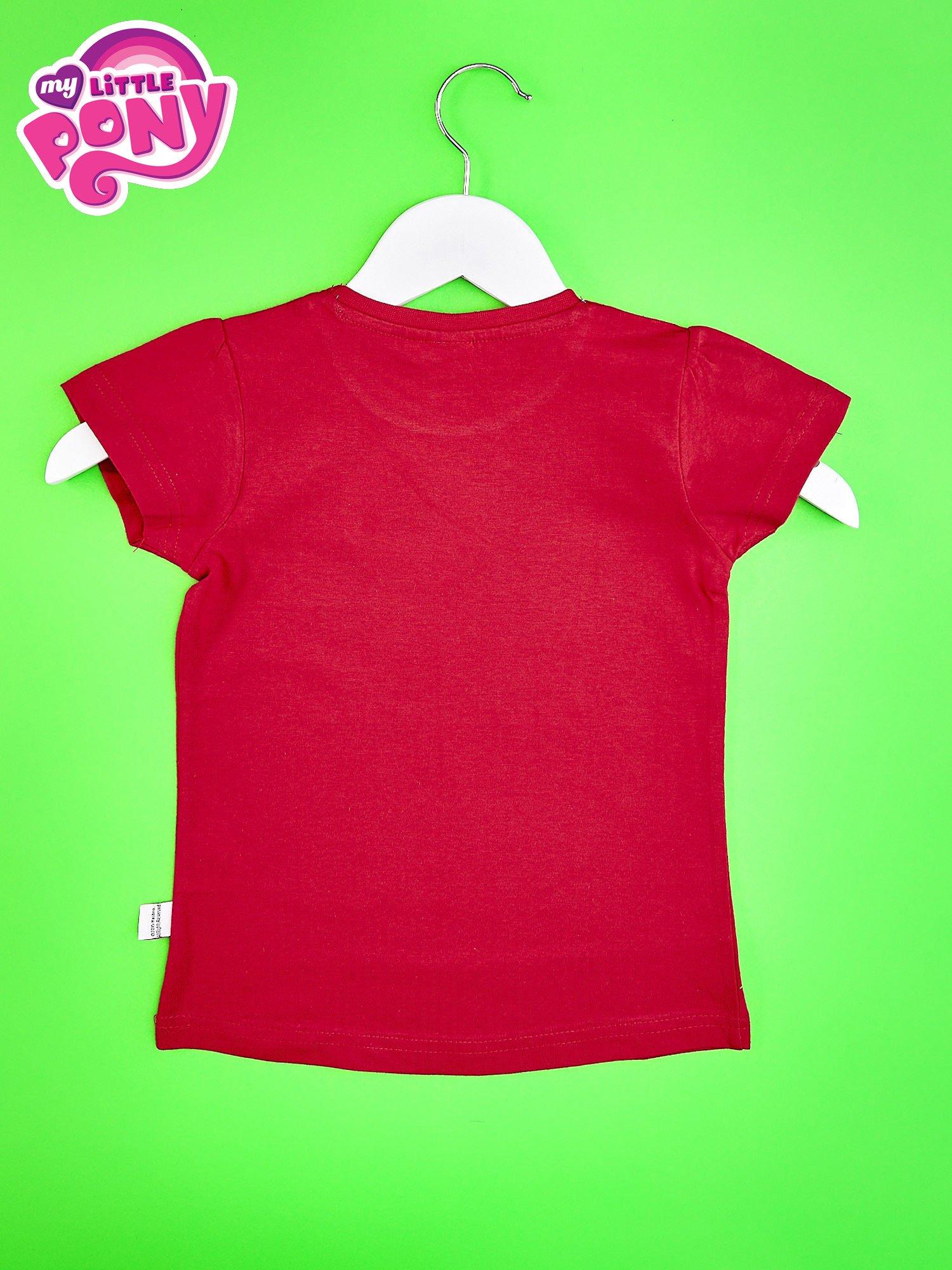 Czerwony t-shirt dla dziewczynki  motywem bajki MY LITTLE PONY                                   zdj.                                  2