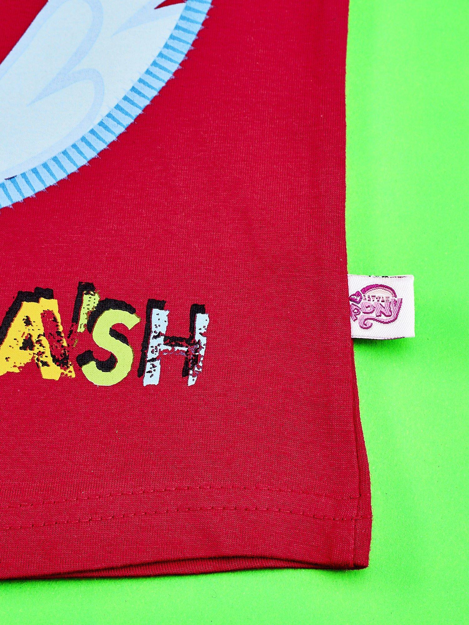 Czerwony t-shirt dla dziewczynki  motywem bajki MY LITTLE PONY                                   zdj.                                  3