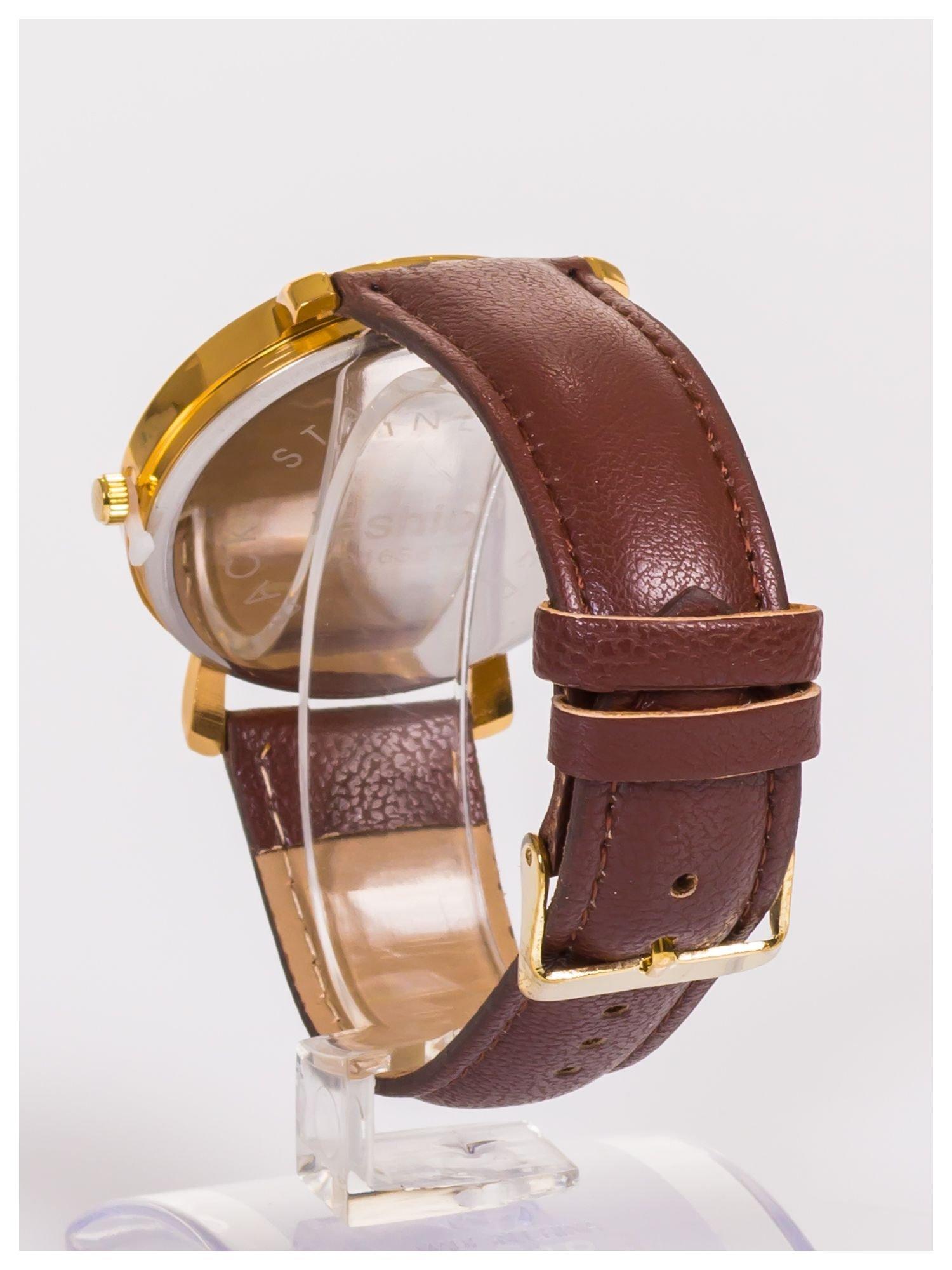 Damski zegarek z błyszczącym motylkiem na dużej i wyraźnej tarczy                                   zdj.                                  3