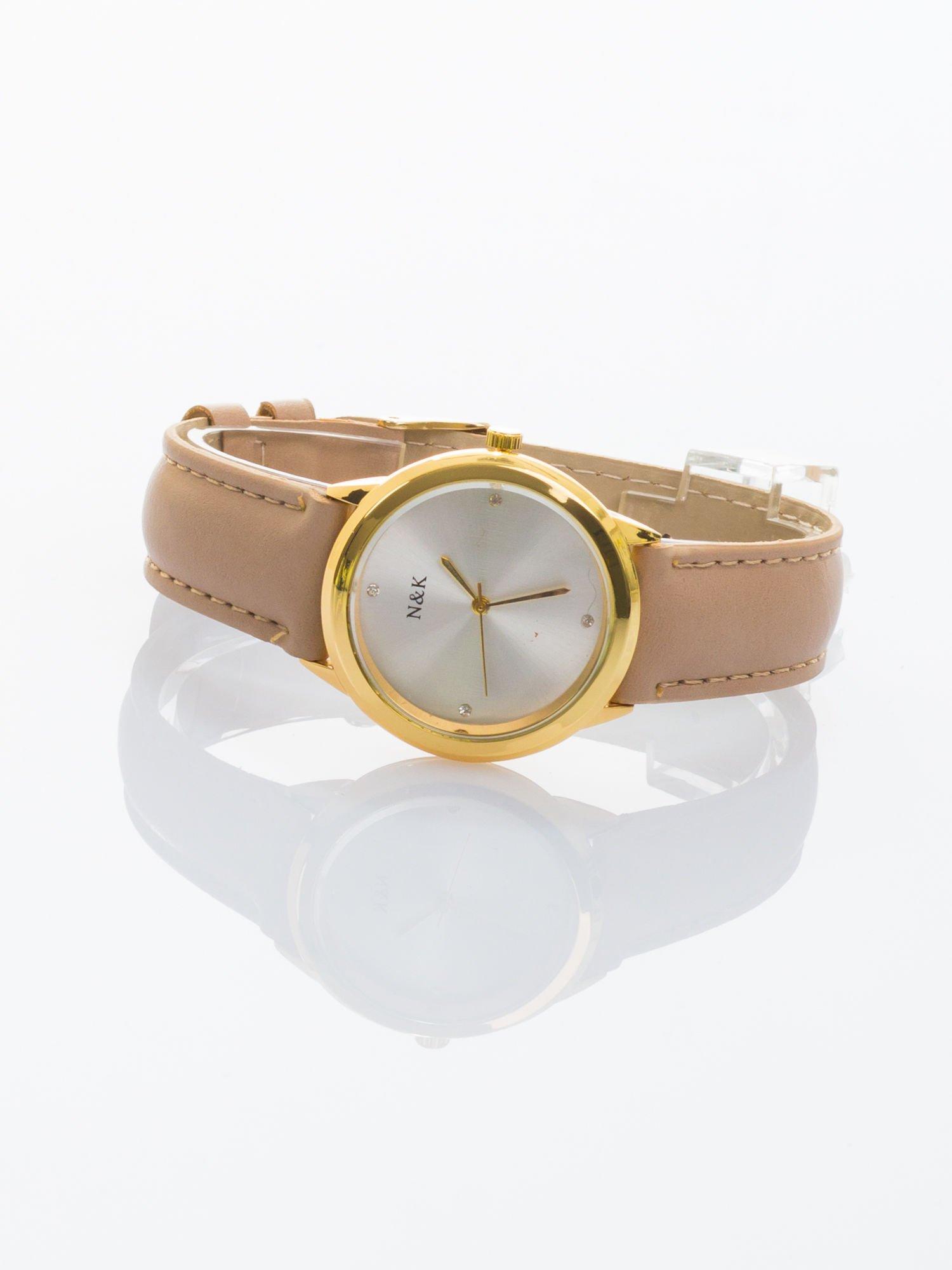 Damski zegarek z cyrkoniami. Mała, czytelna tarcza                                  zdj.                                  1