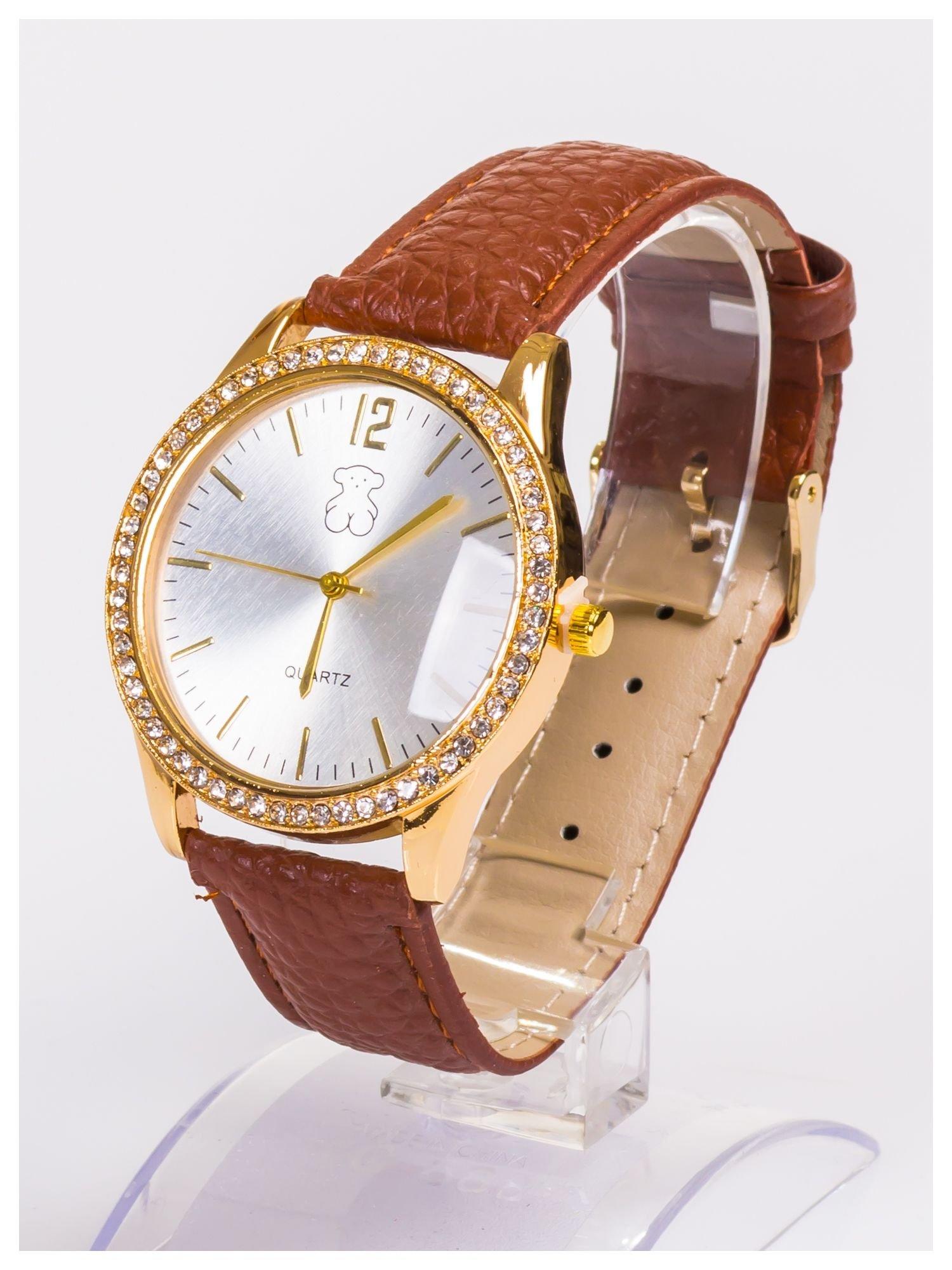 Damski zegarek z cyrkoniami z dużą wyraźną tarczą                                  zdj.                                  2