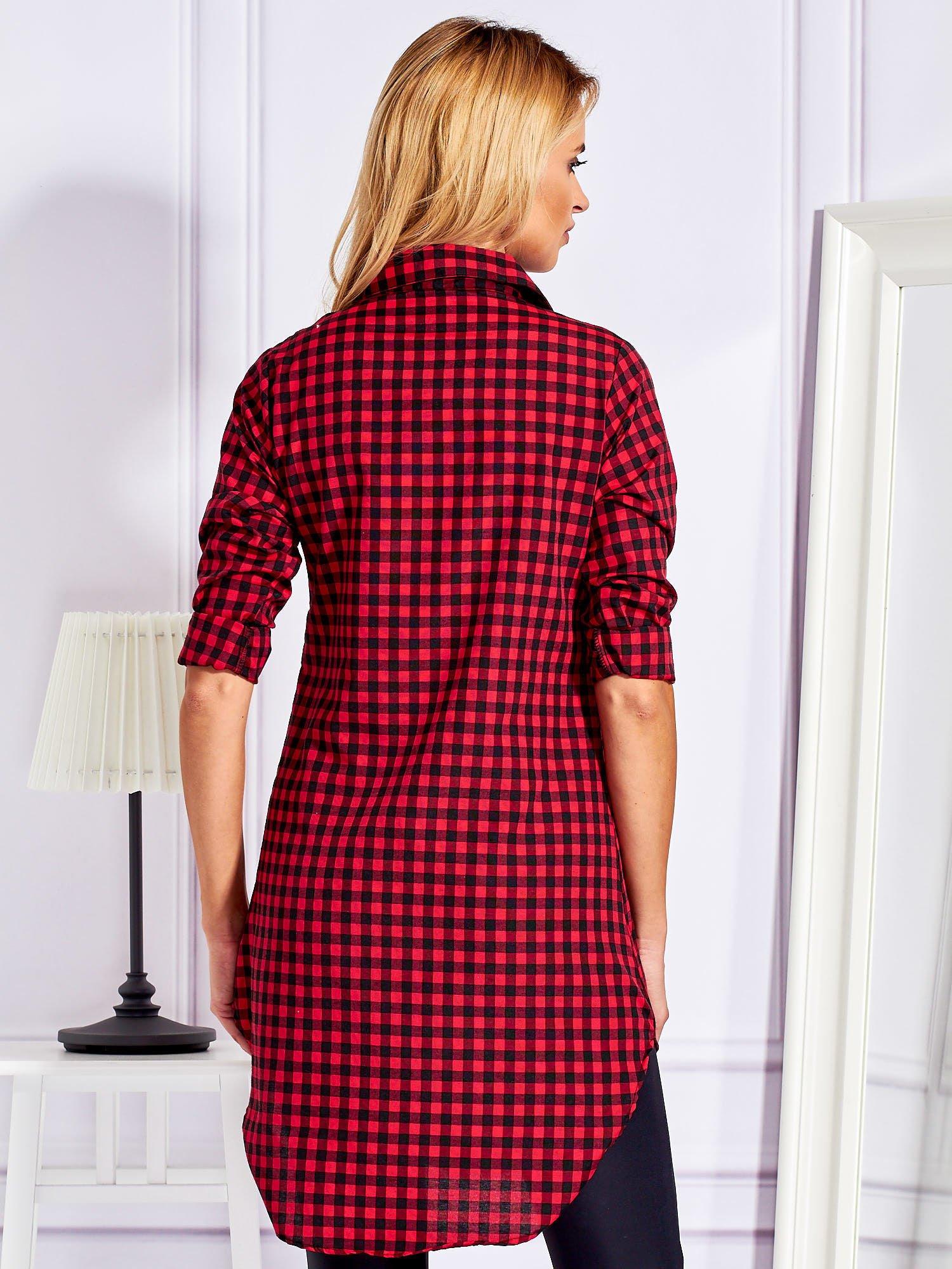 Bluzka Ebutik pl Kratkę Czerwona Sklep Koszula Tunika Długa W 4jL3AR5q