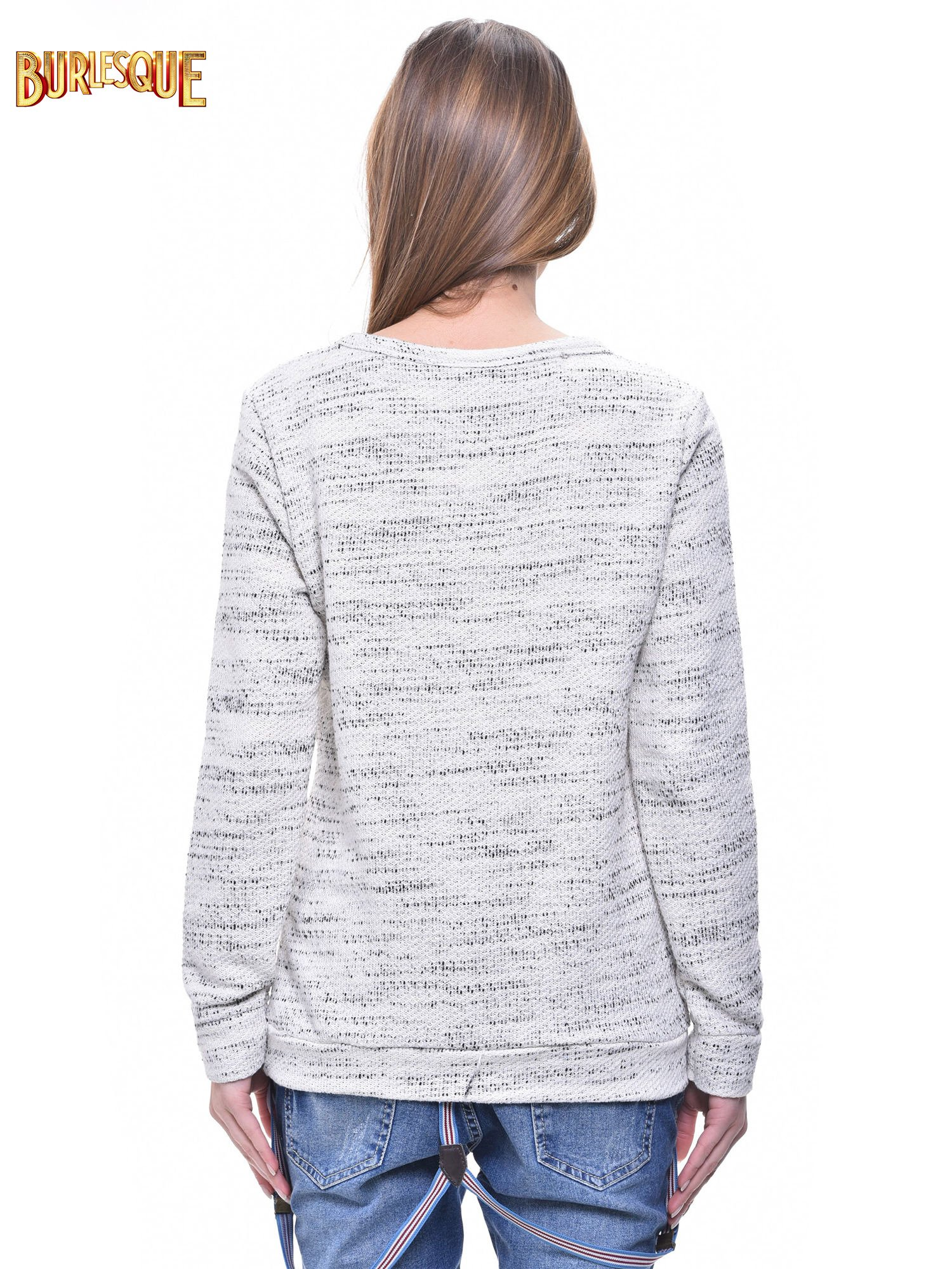 Ecru bluza damska z sówkami                                  zdj.                                  4
