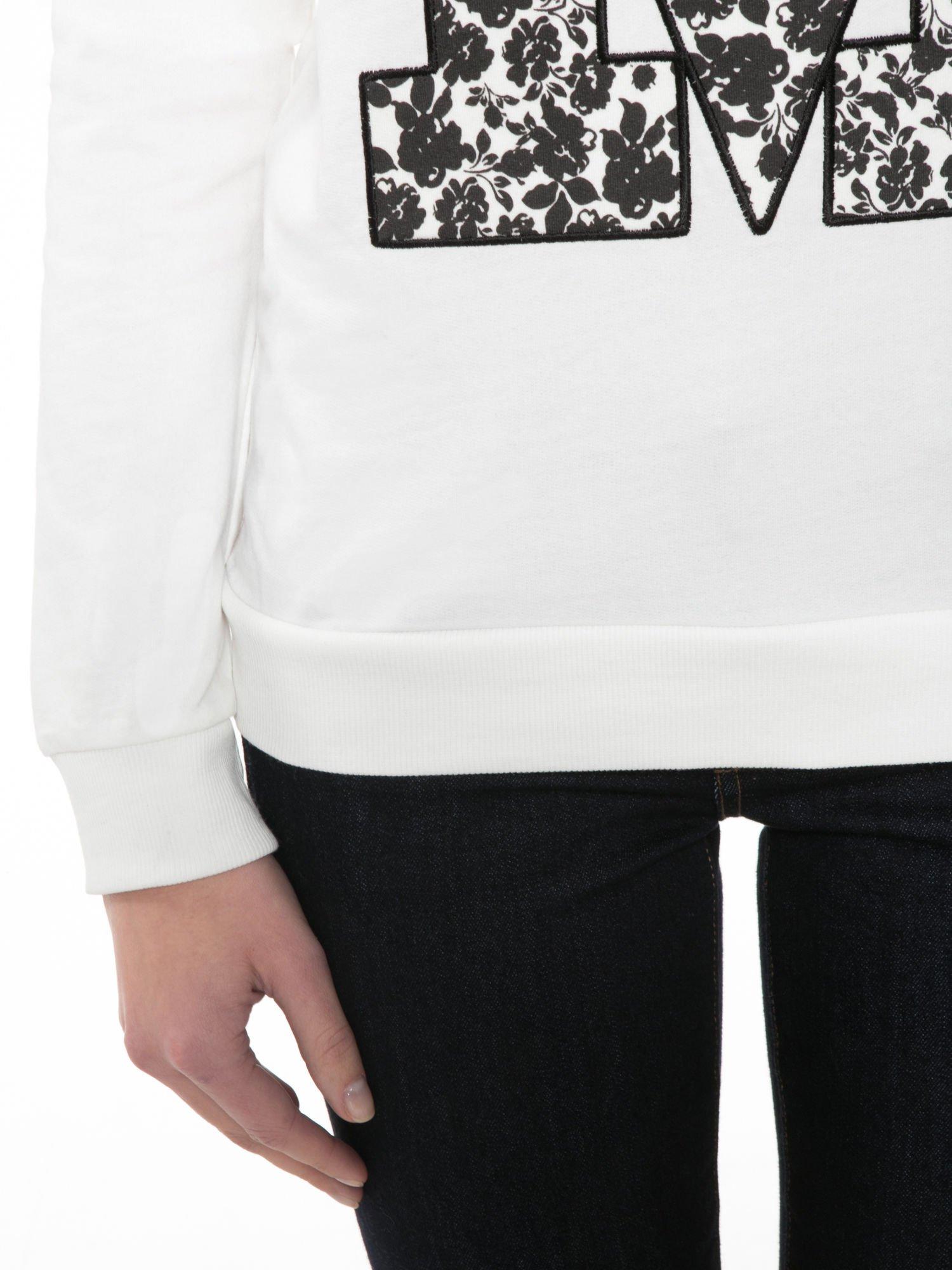 Ecru bluza z kwiatowym nadrukiem litery M                                  zdj.                                  6