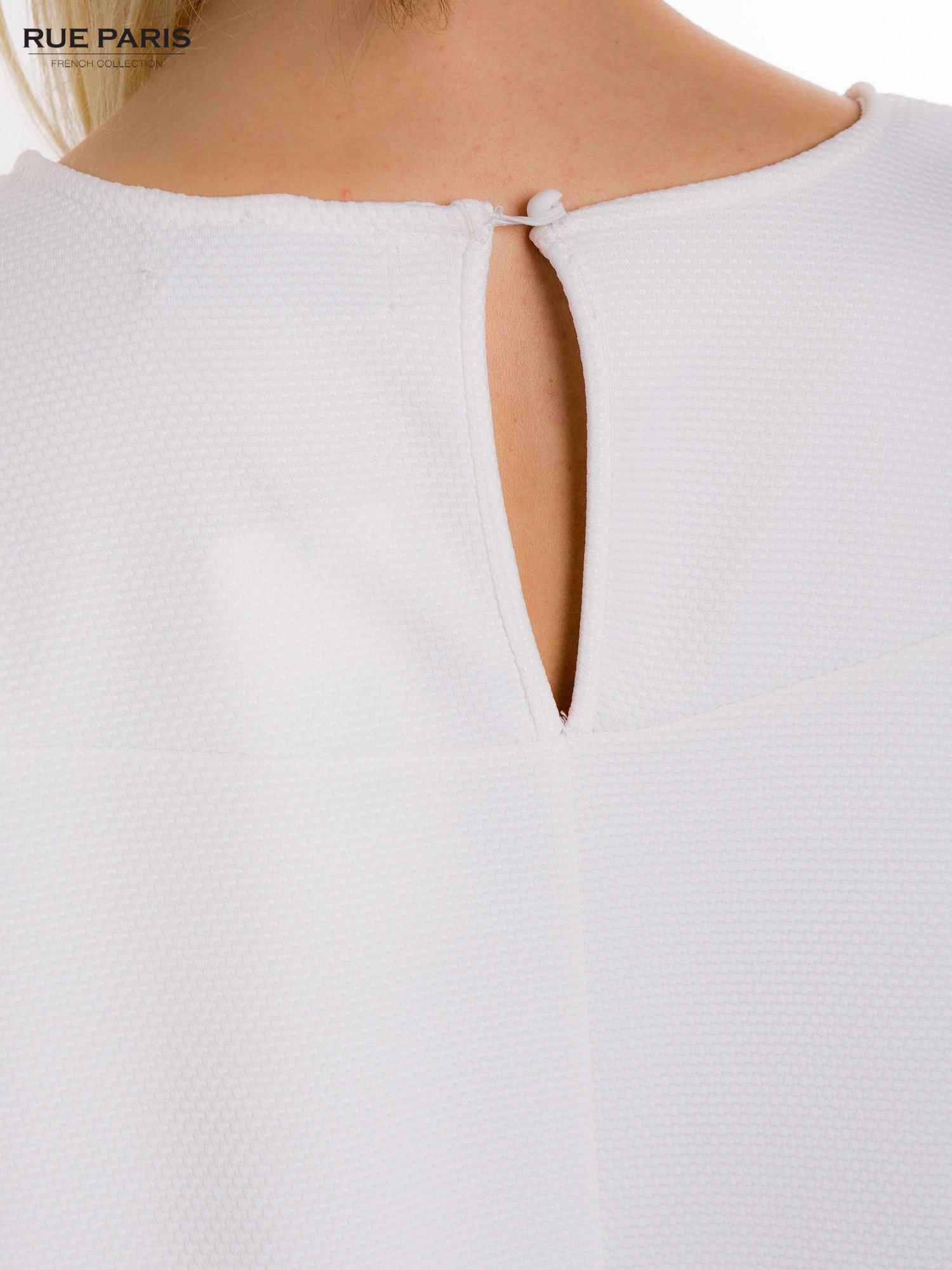 Ecru sukienka rozkloszowana dzwonek                                  zdj.                                  8