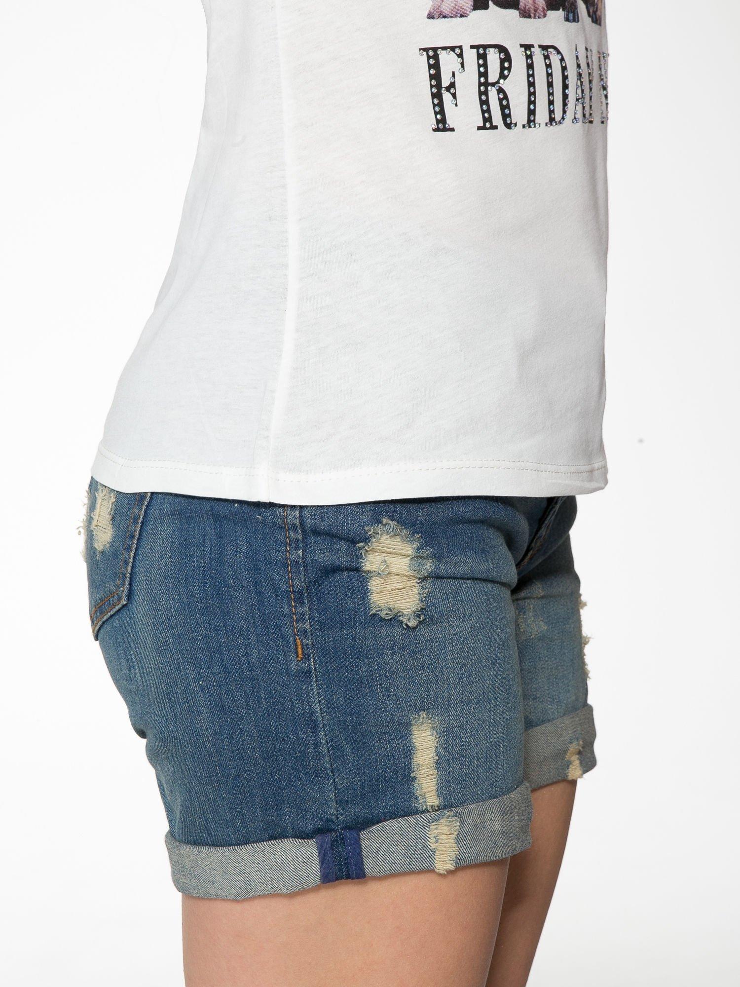 Ecru t-shirt z nadrukiem szczeniąt                                  zdj.                                  9