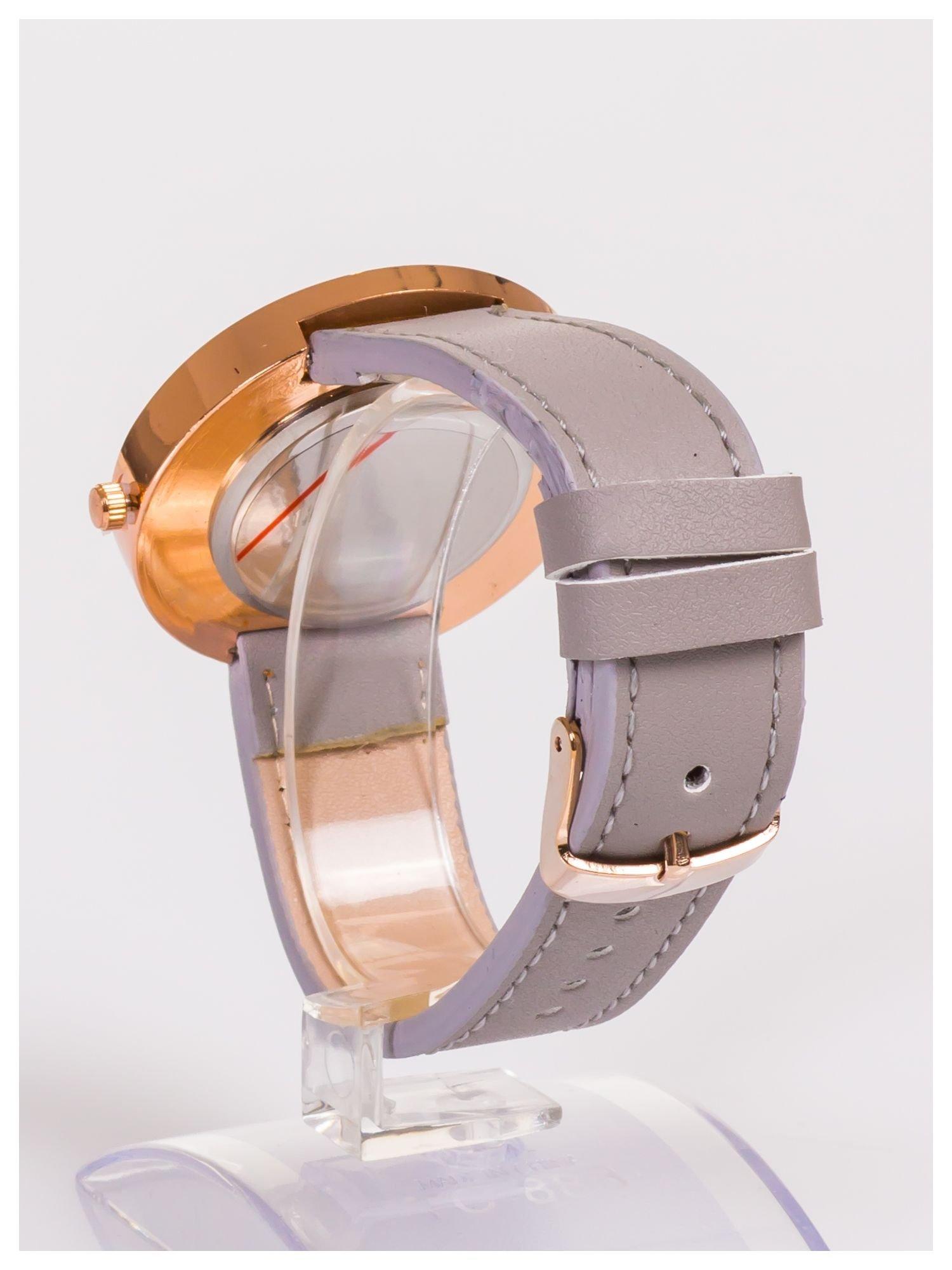 Farril -Klasyka i elegancja szary damski zegarek retro z cyrkoniami -Rose gold                                  zdj.                                  4