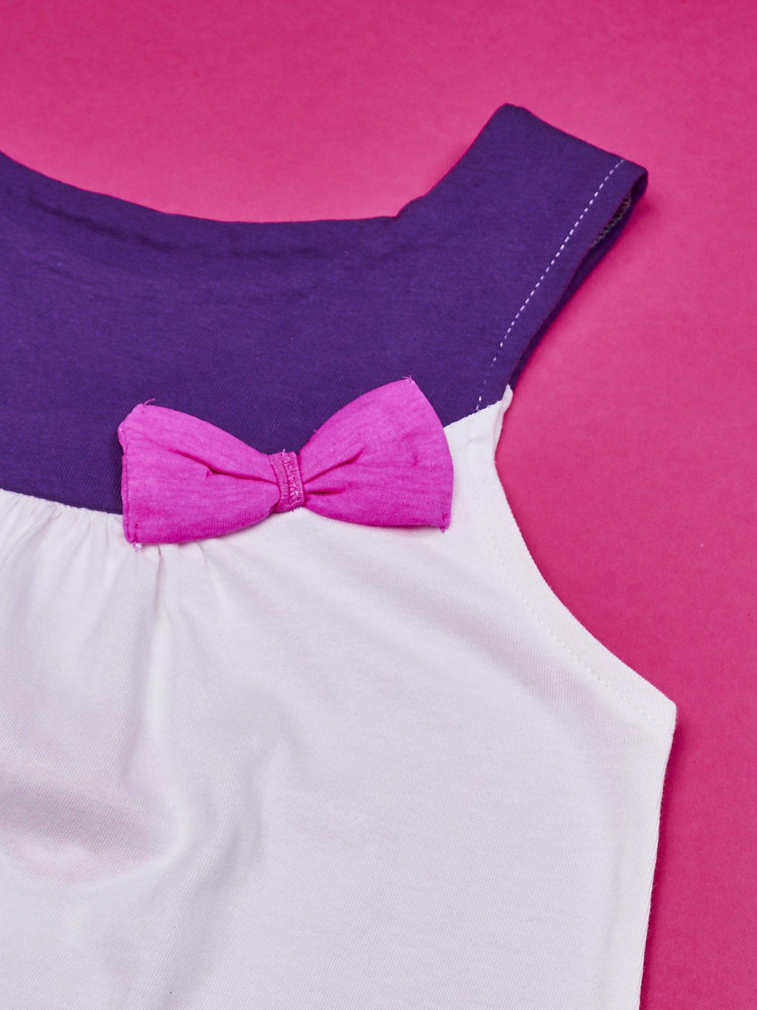 Fioletowa sukienka dla dziewczynki bez rękawów MY LITTLE PONY                                  zdj.                                  3