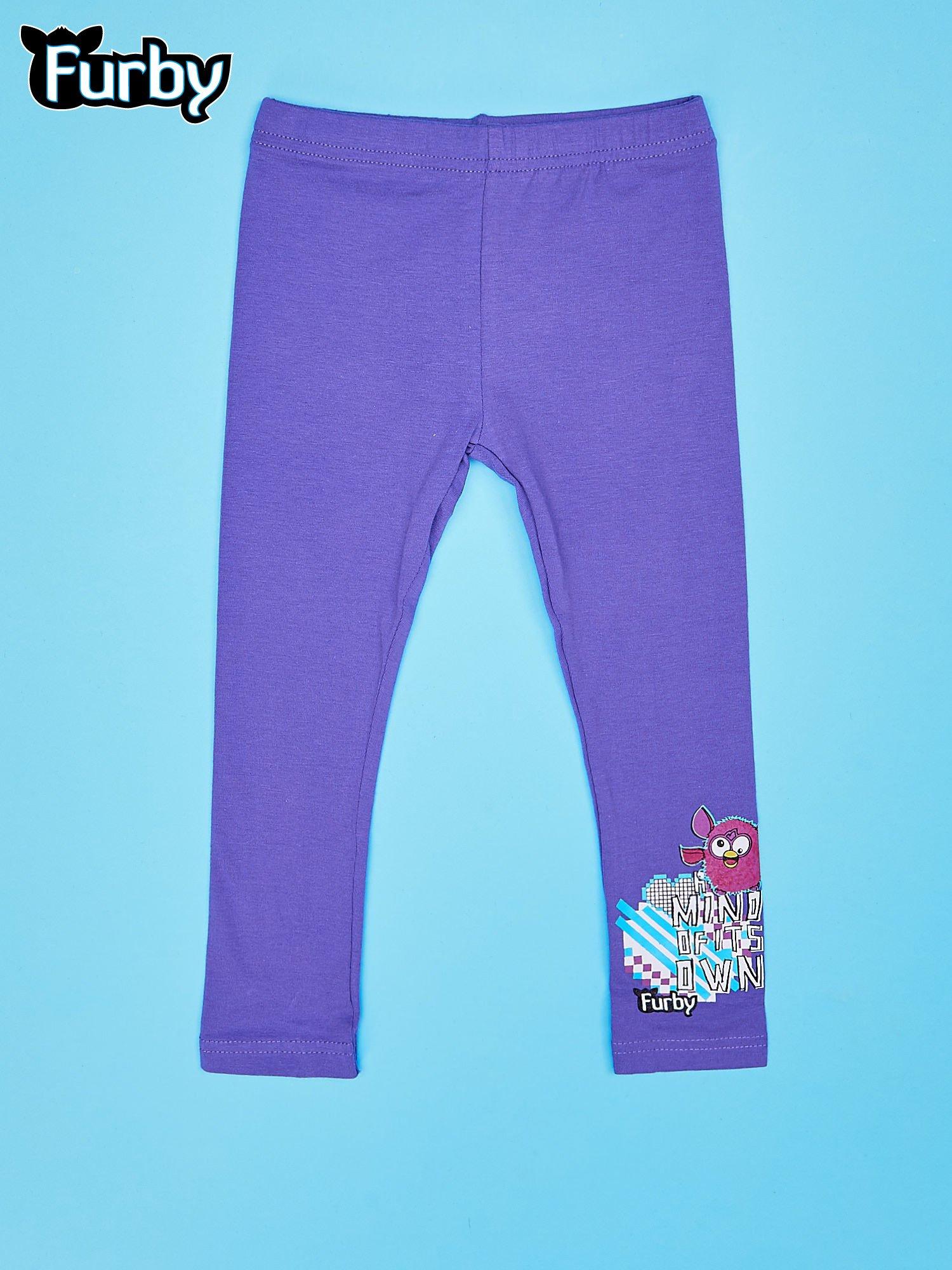 Fioletowe legginsy dla dziewczynki FURBY                                  zdj.                                  1